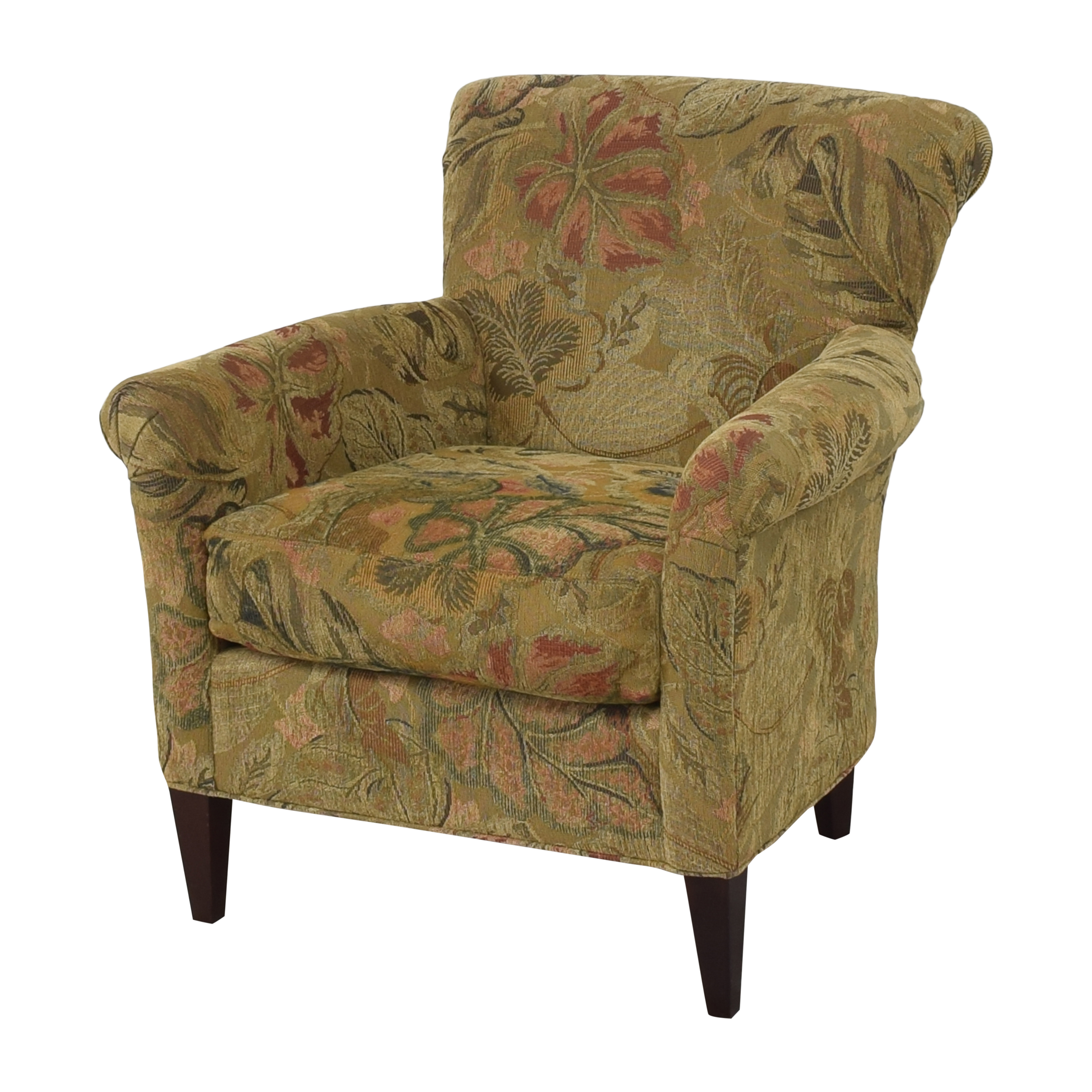 Crate & Barrel Crate & Barrel Accent Chair with Ottoman multi