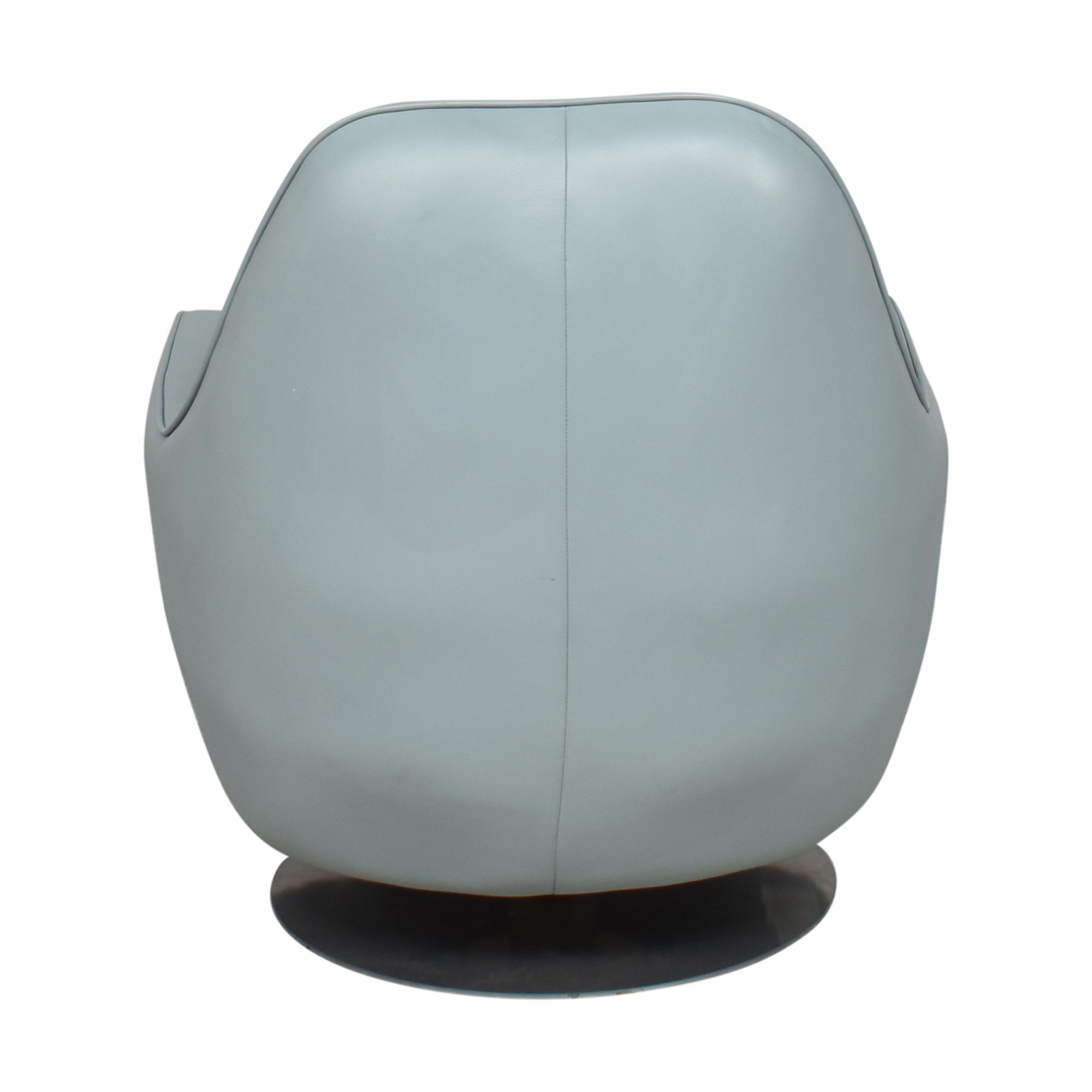 Room & Board Room & Board Modern Swivel Chair Light Blue