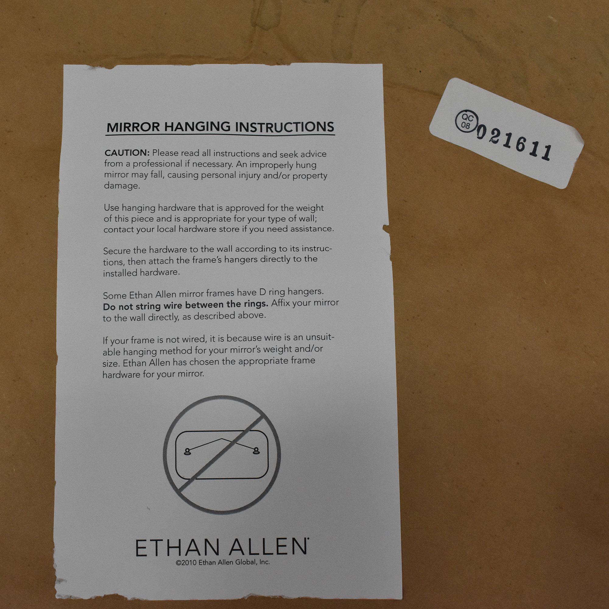 shop Ethan Allen Ethan Allen Ornately Framed Mirror online