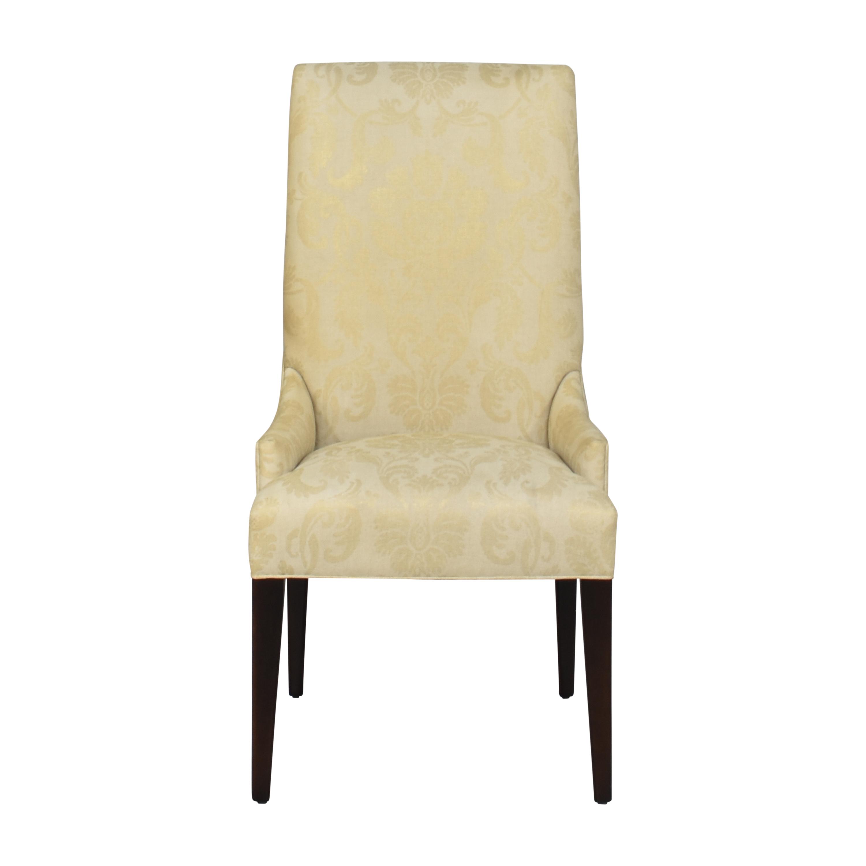 Arhaus Platinum High Back Dining Chair Arhaus