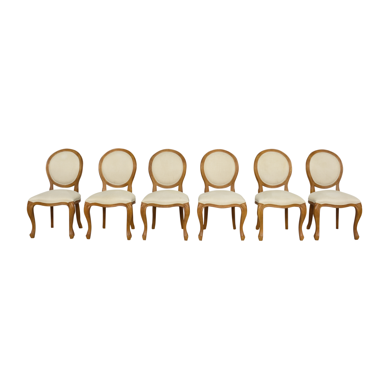 Arhaus Arhaus Margot Dining Side Chairs Cream and Brown