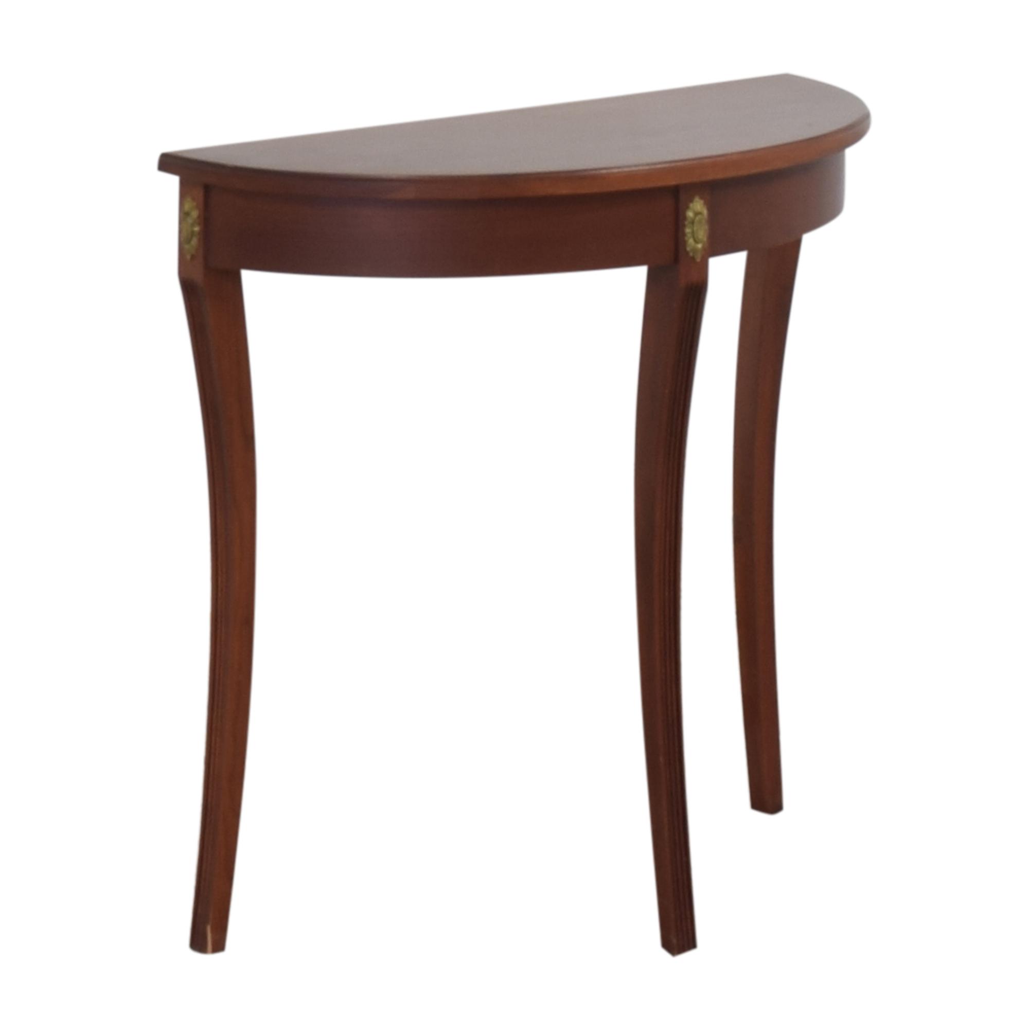 buy Ethan Allen Demilune Console Table Ethan Allen Tables
