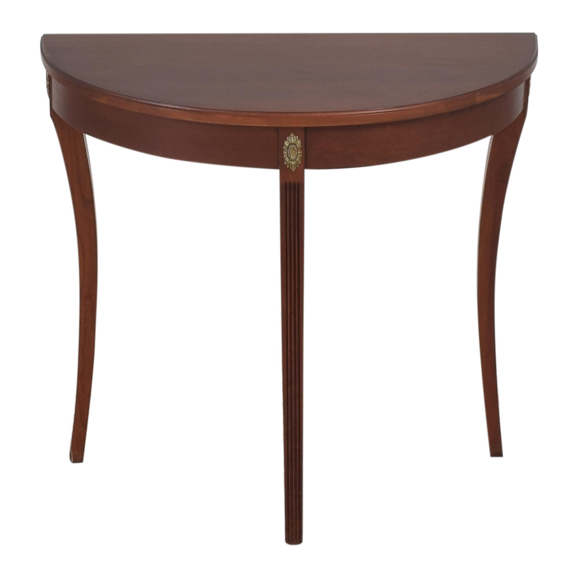 Ethan Allen Ethan Allen Demilune Console Table for sale