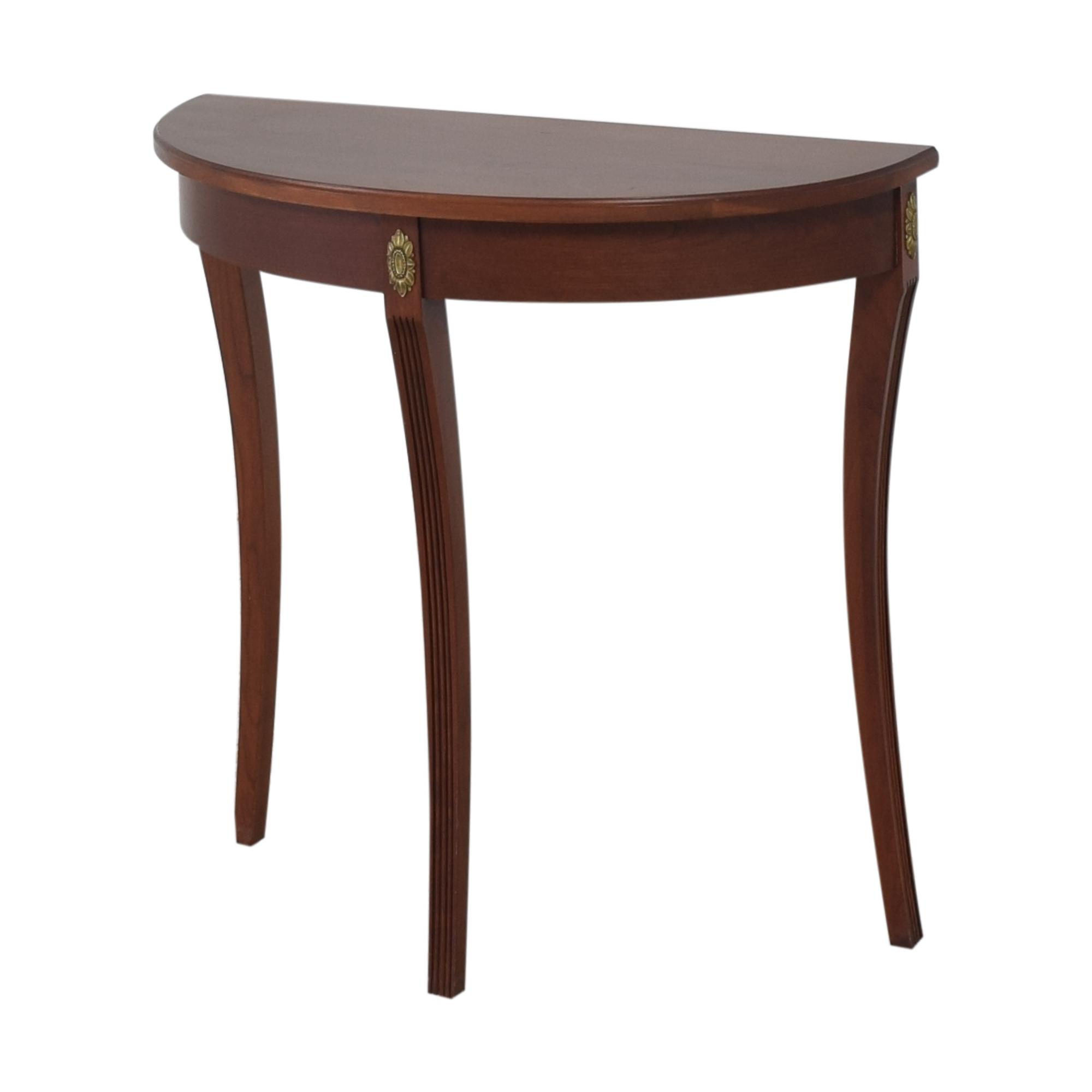 Ethan Allen Demilune Console Table sale