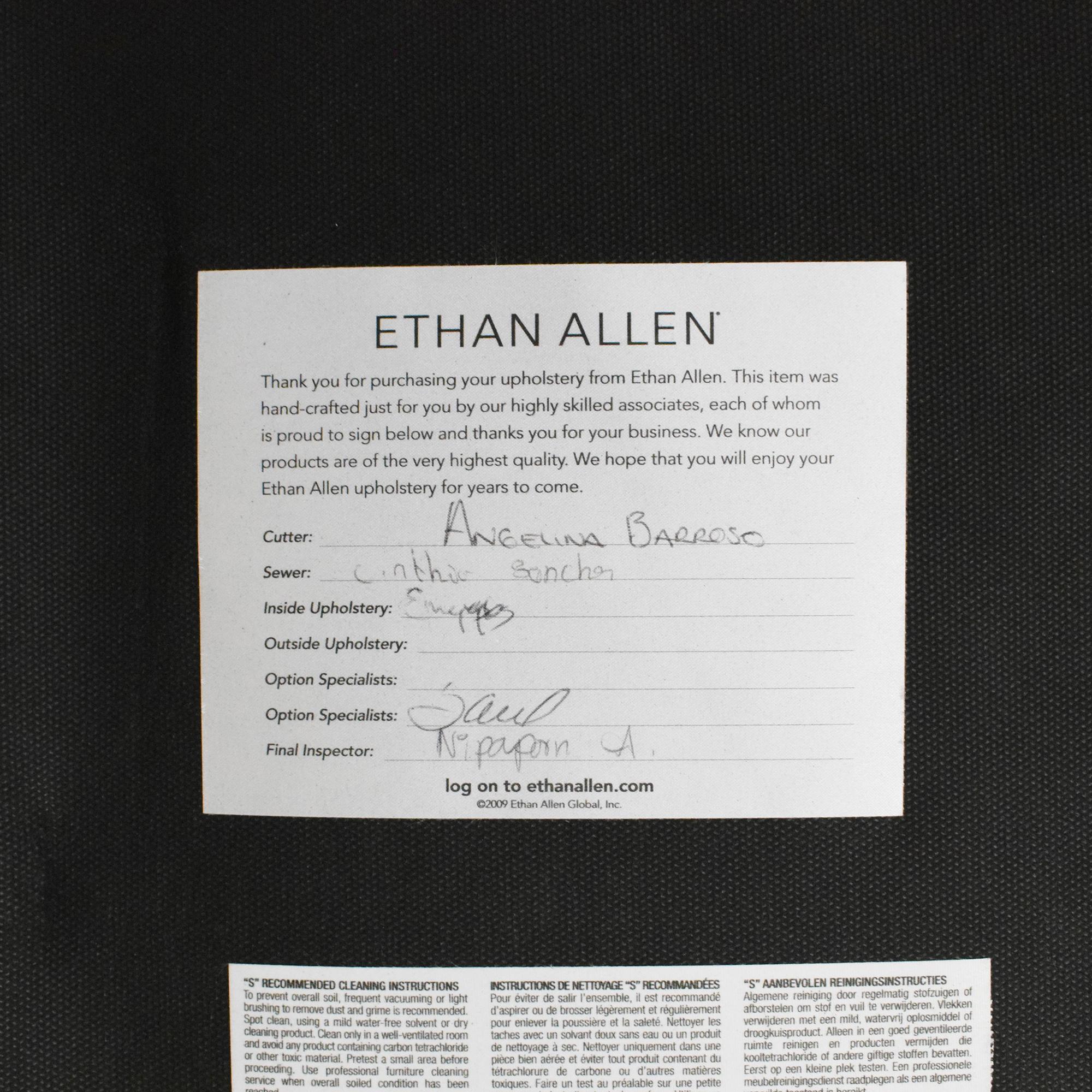 Ethan Allen Ethan Allen Nassau Square Ottoman used