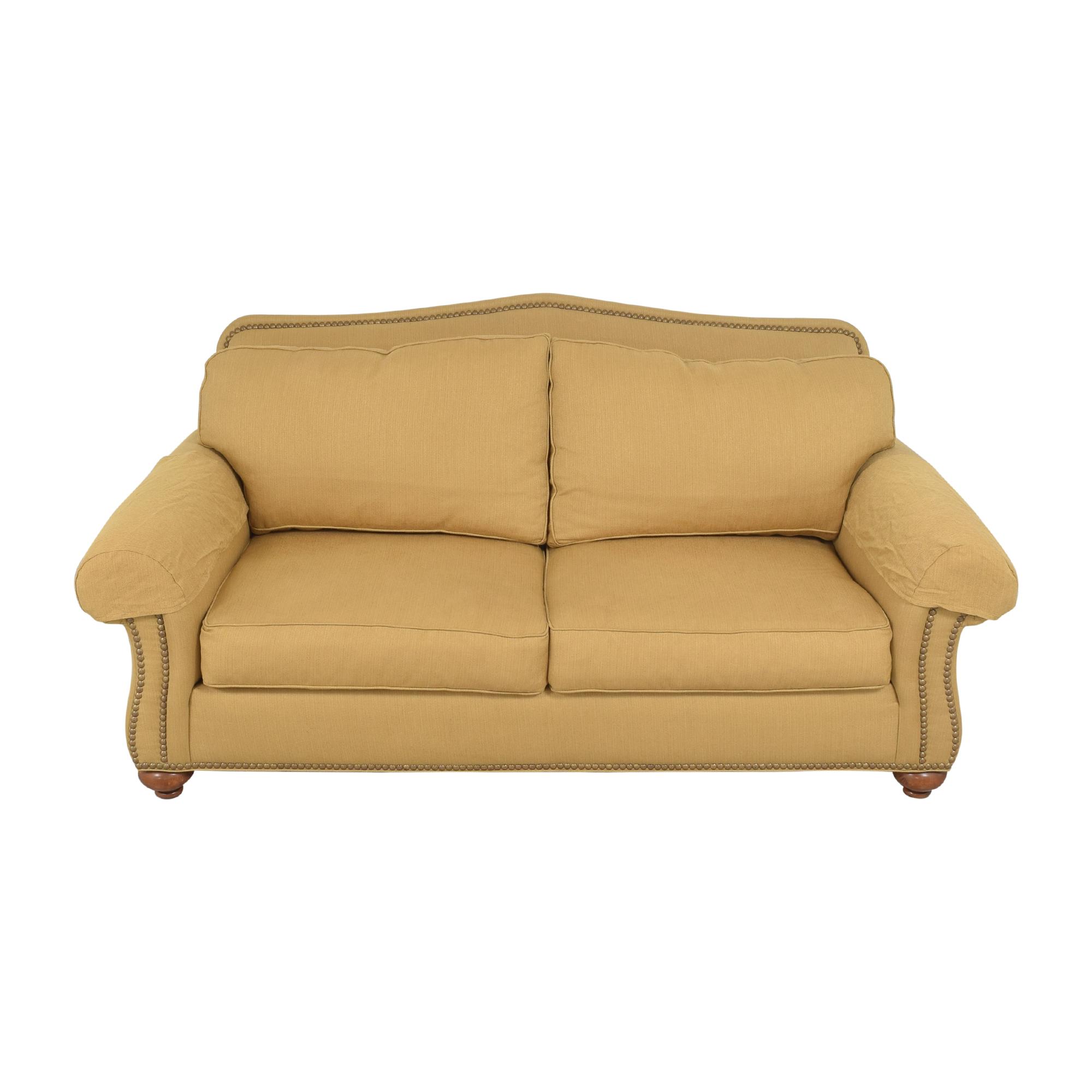Ethan Allen Ethan Allen Nailhead Two Cushion Sofa ct