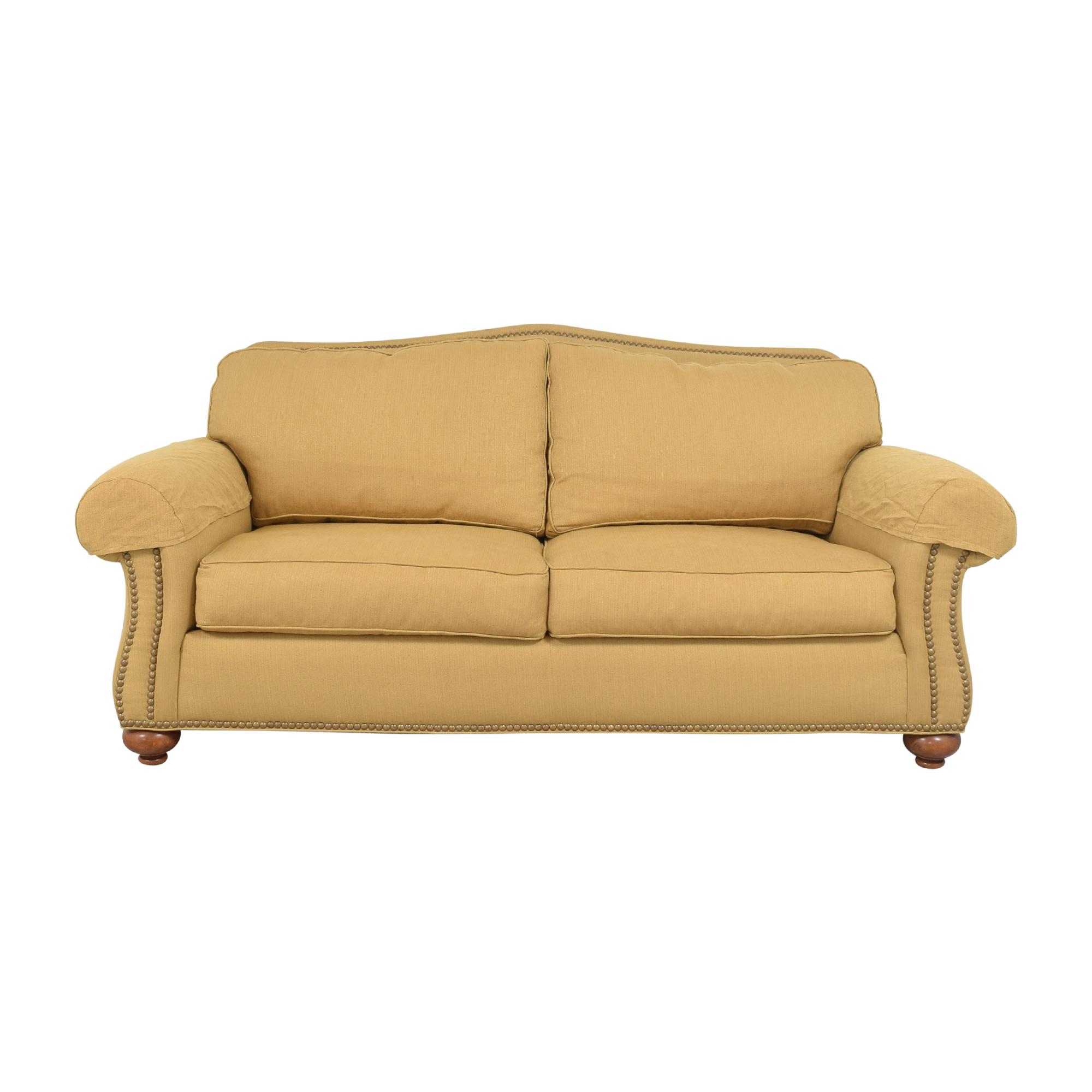 Ethan Allen Ethan Allen Nailhead Two Cushion Sofa discount