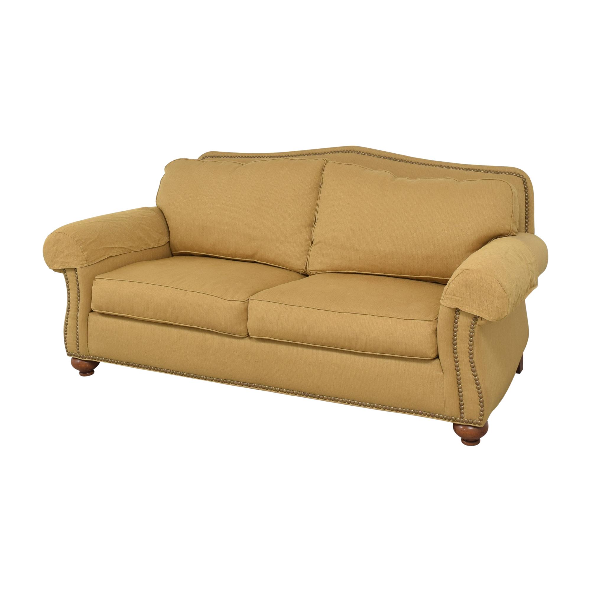 Ethan Allen Ethan Allen Nailhead Two Cushion Sofa Sofas