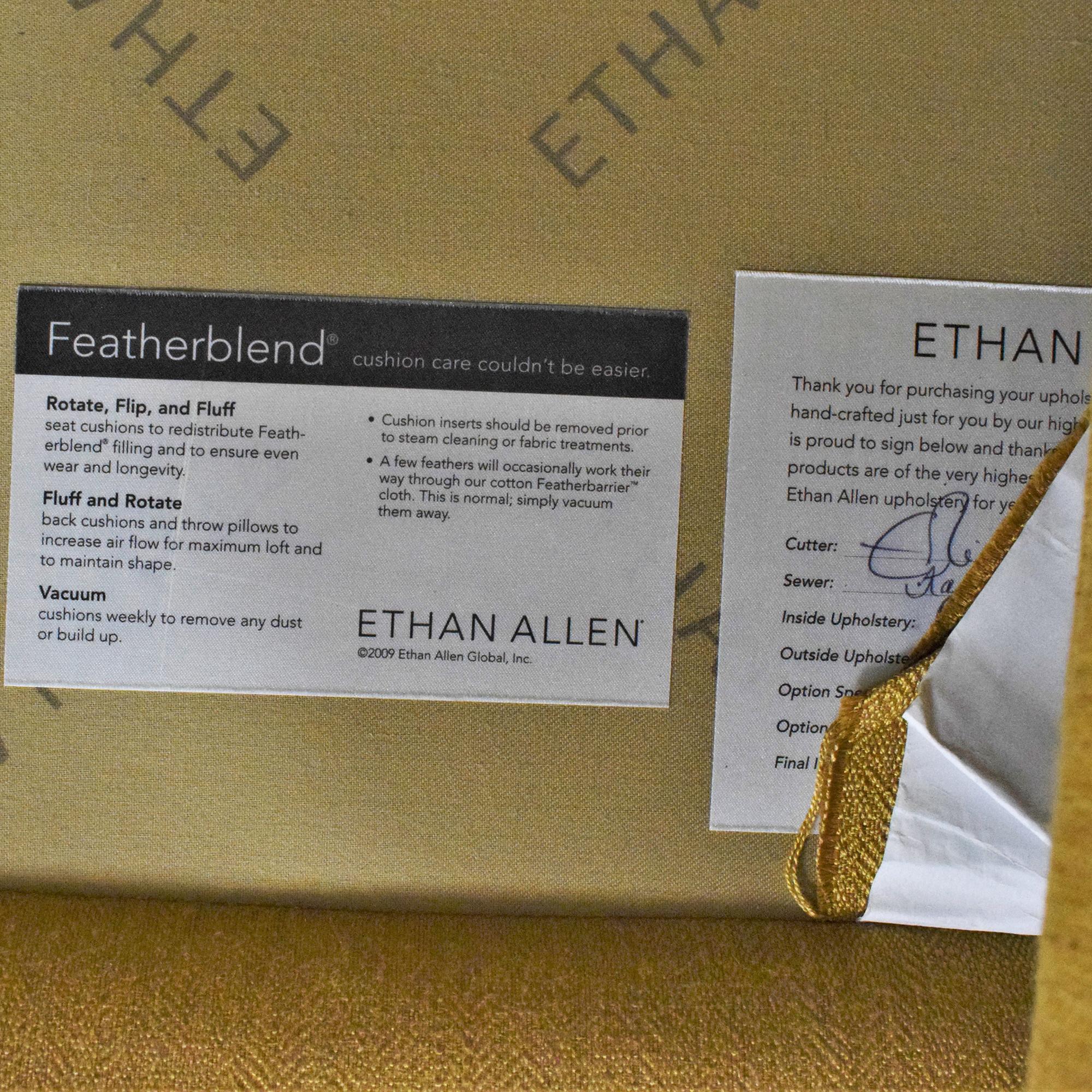Ethan Allen Ethan Allen Nailhead Two Cushion Sofa on sale