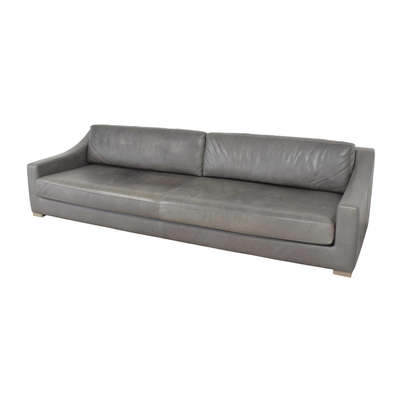Restoration Hardware Modena Slope Arm Sofa Restoration Hardware