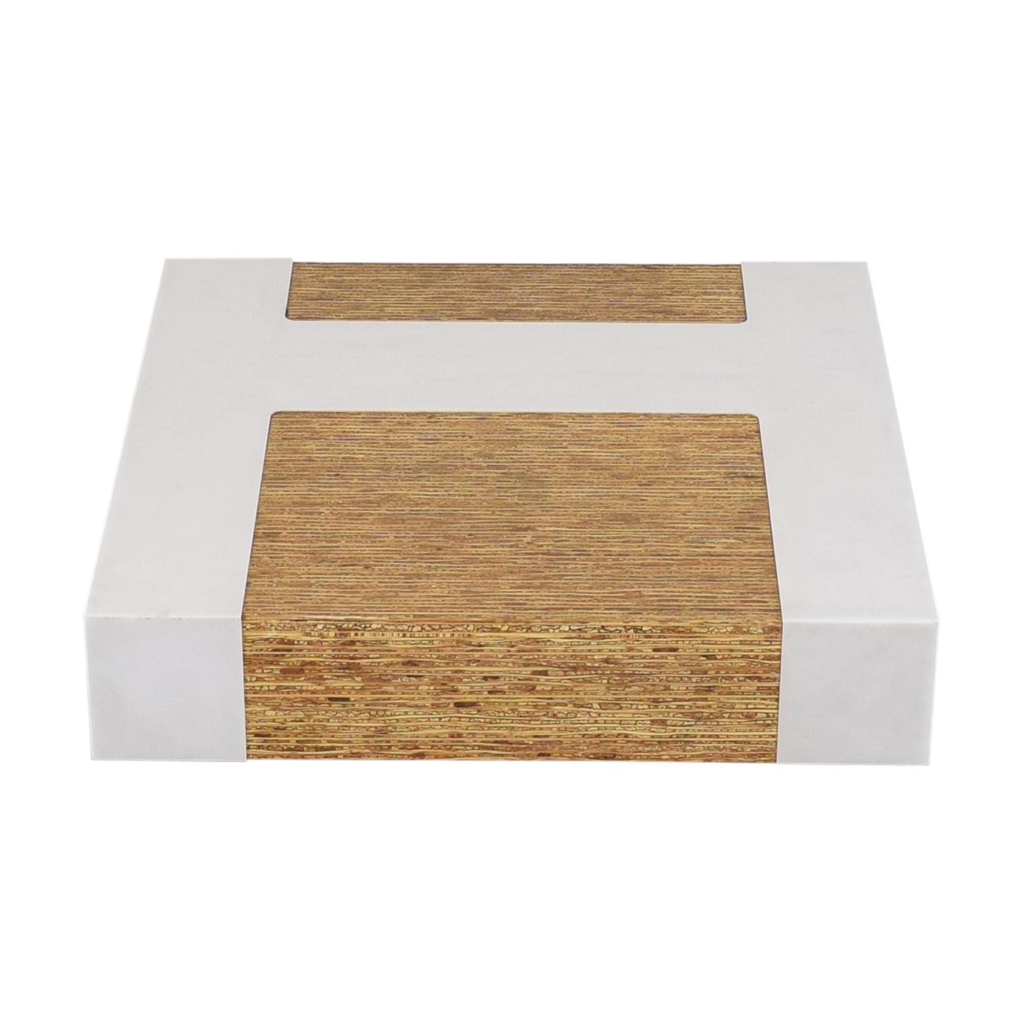 Contemporary Square Coffee Table sale