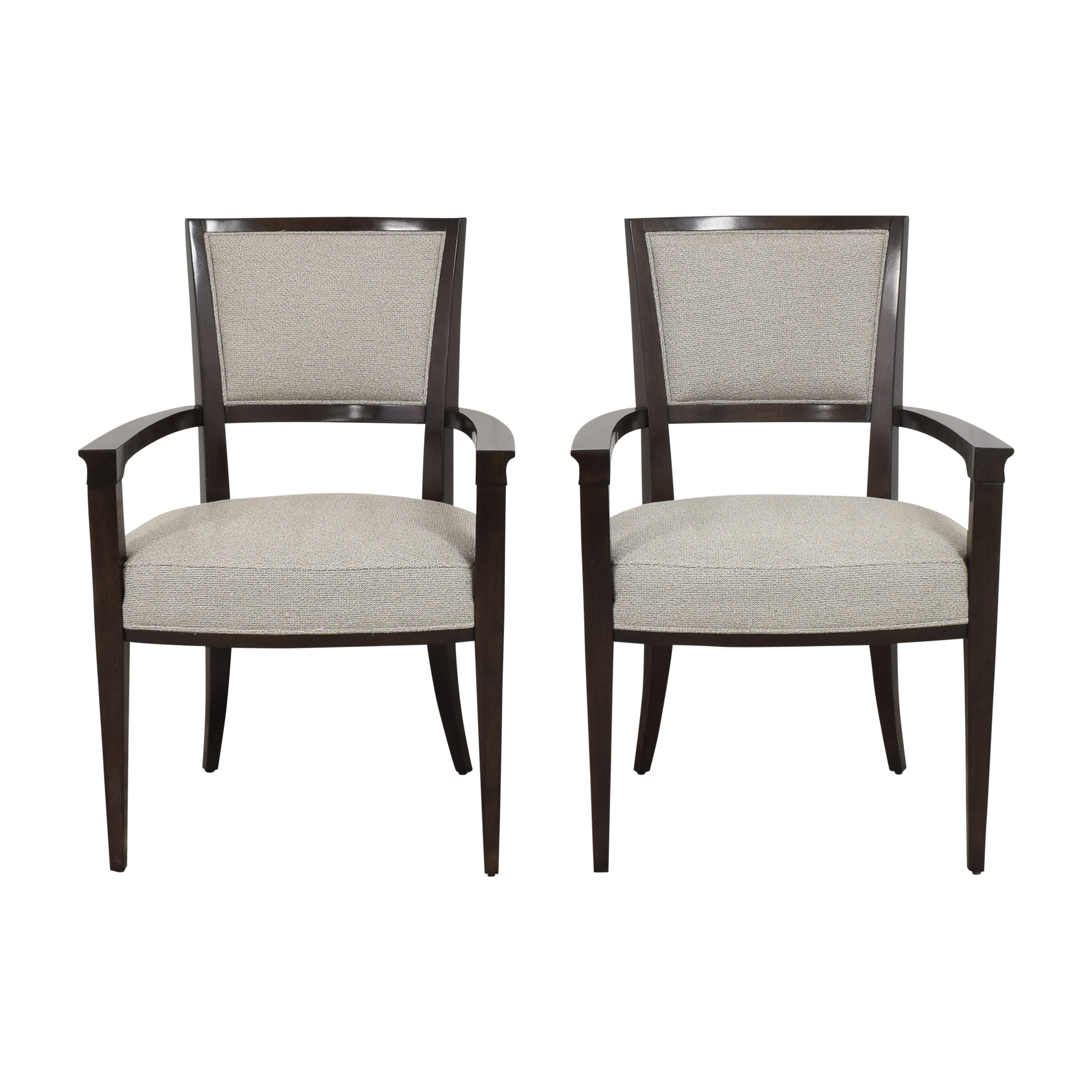 Caracole Moderne Dining Arm Chairs Caracole