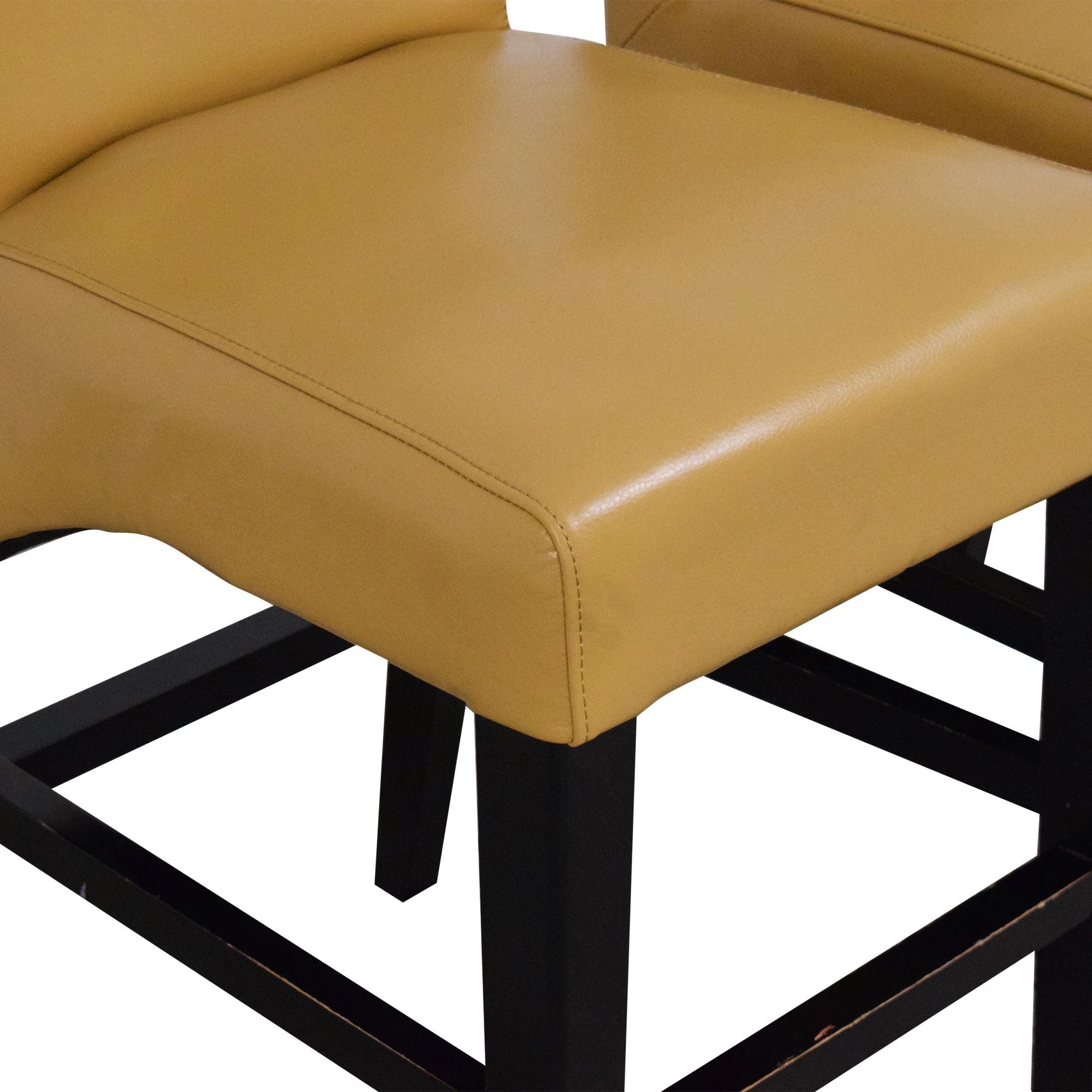Upholstered Scroll Back Counter Stools dimensions