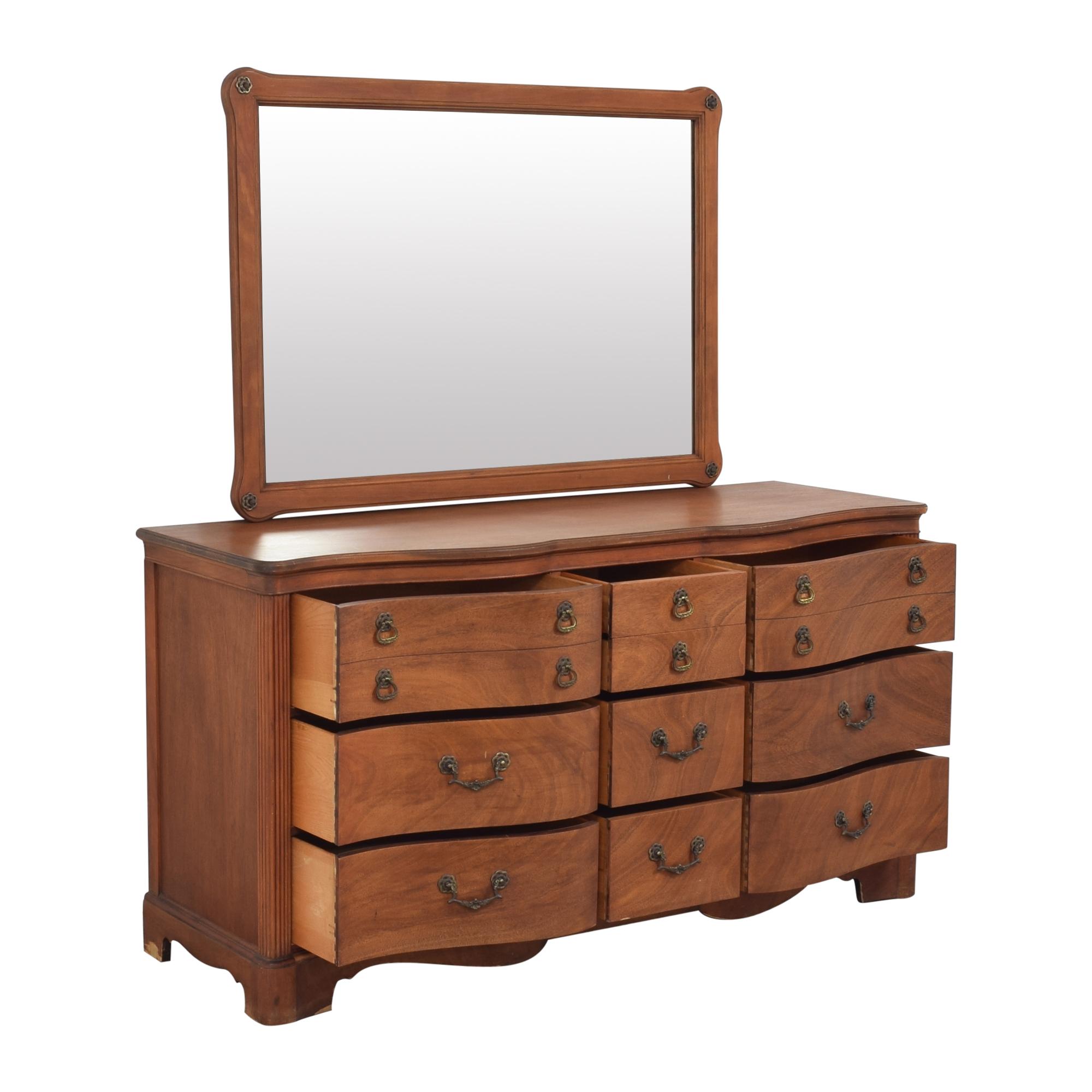 buy Drexel Triple Dresser with Mirror Drexel Dressers