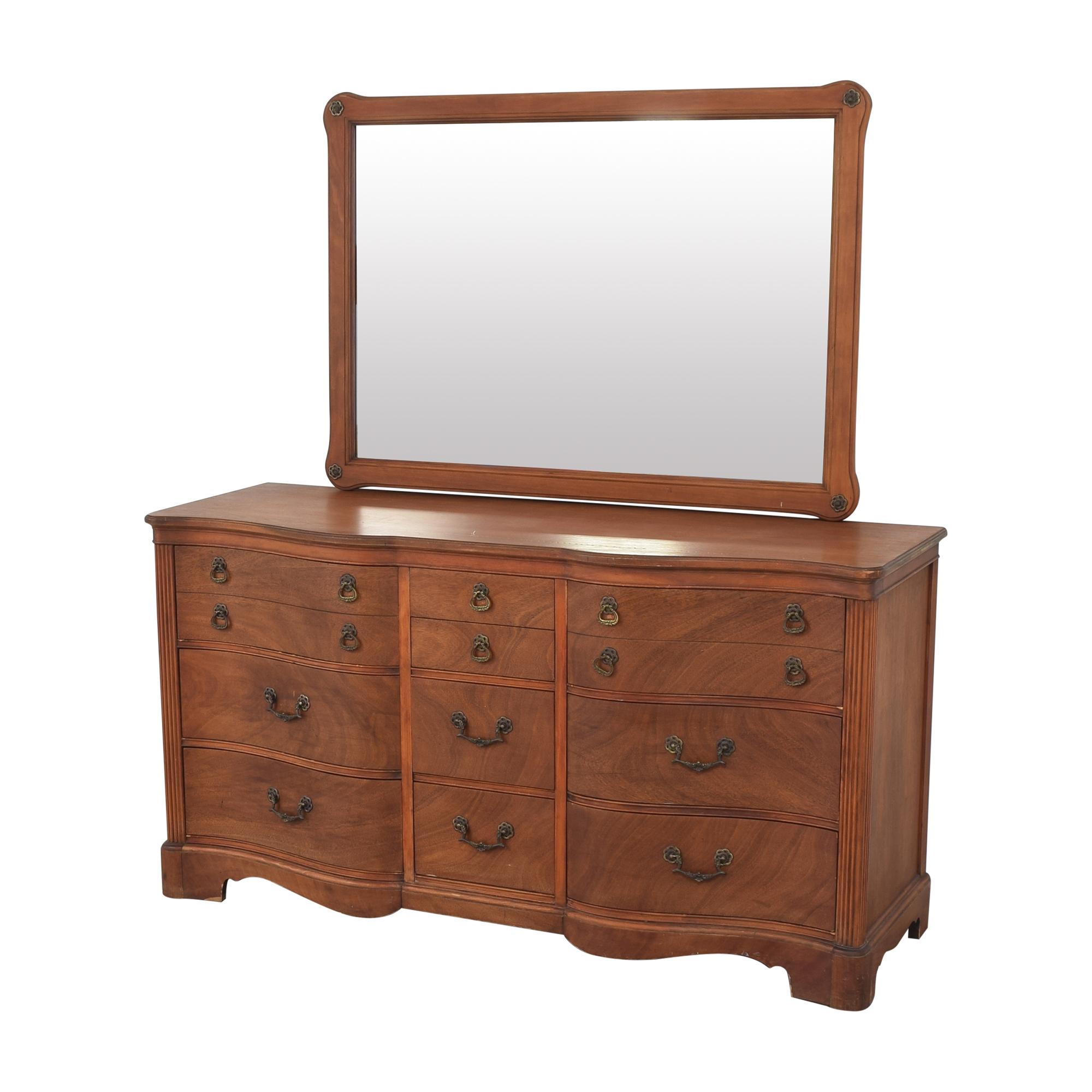 Drexel Triple Dresser with Mirror sale