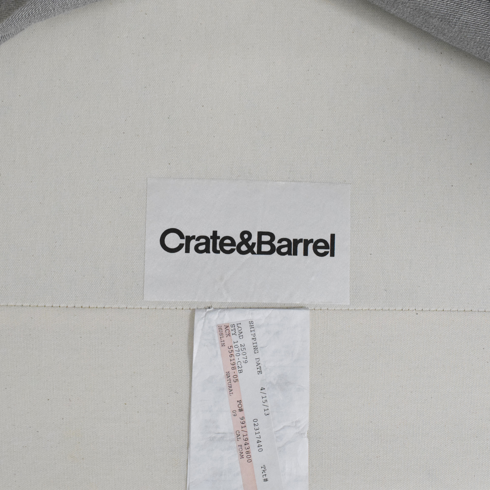 Crate & Barrel Crate & Barrel Chair and a Half nj
