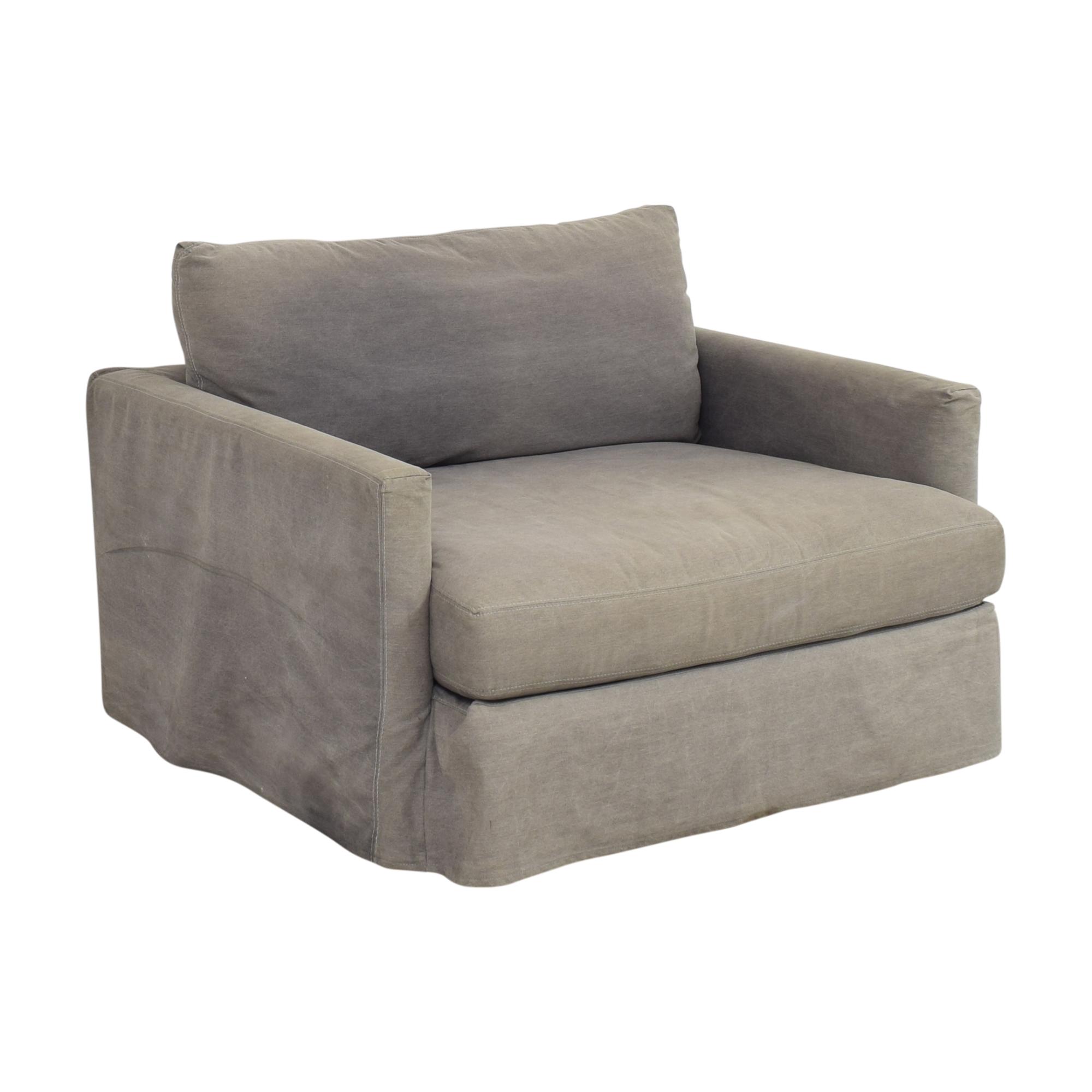 Crate & Barrel Crate & Barrel Chair and a Half gray