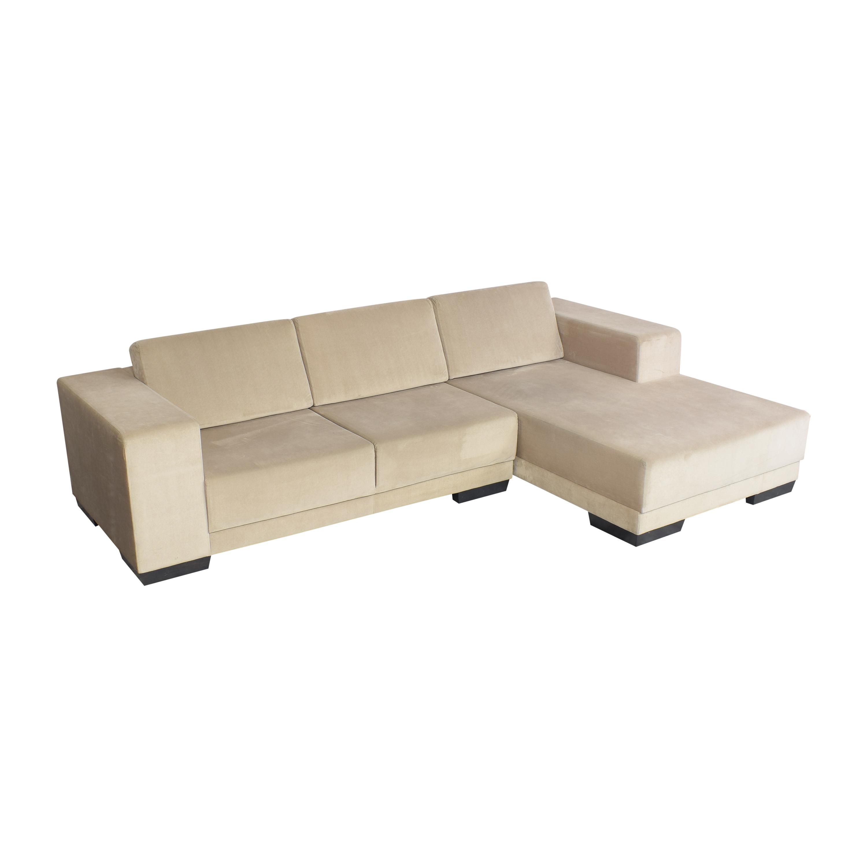 buy Lazzoni Chaise Sectional Sofa Lazzoni Sofas