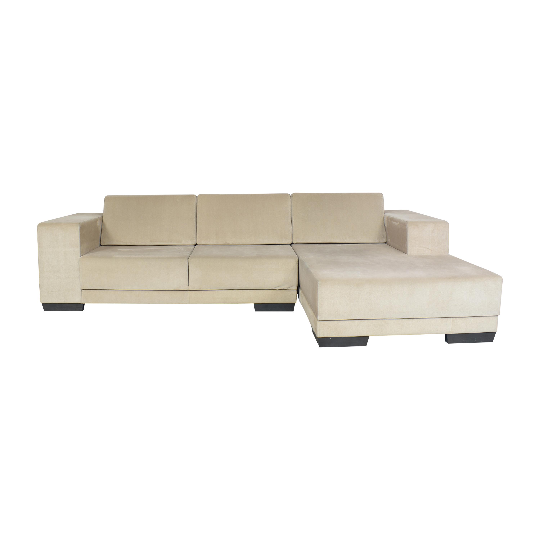 Lazzoni Chaise Sectional Sofa / Sofas