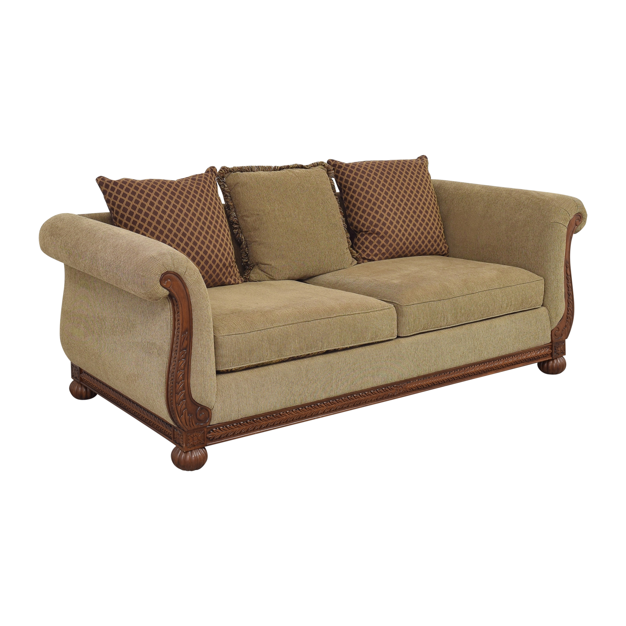 HM Richards Furniture Traditional Roll Arm Sofa HM Richards Furniture