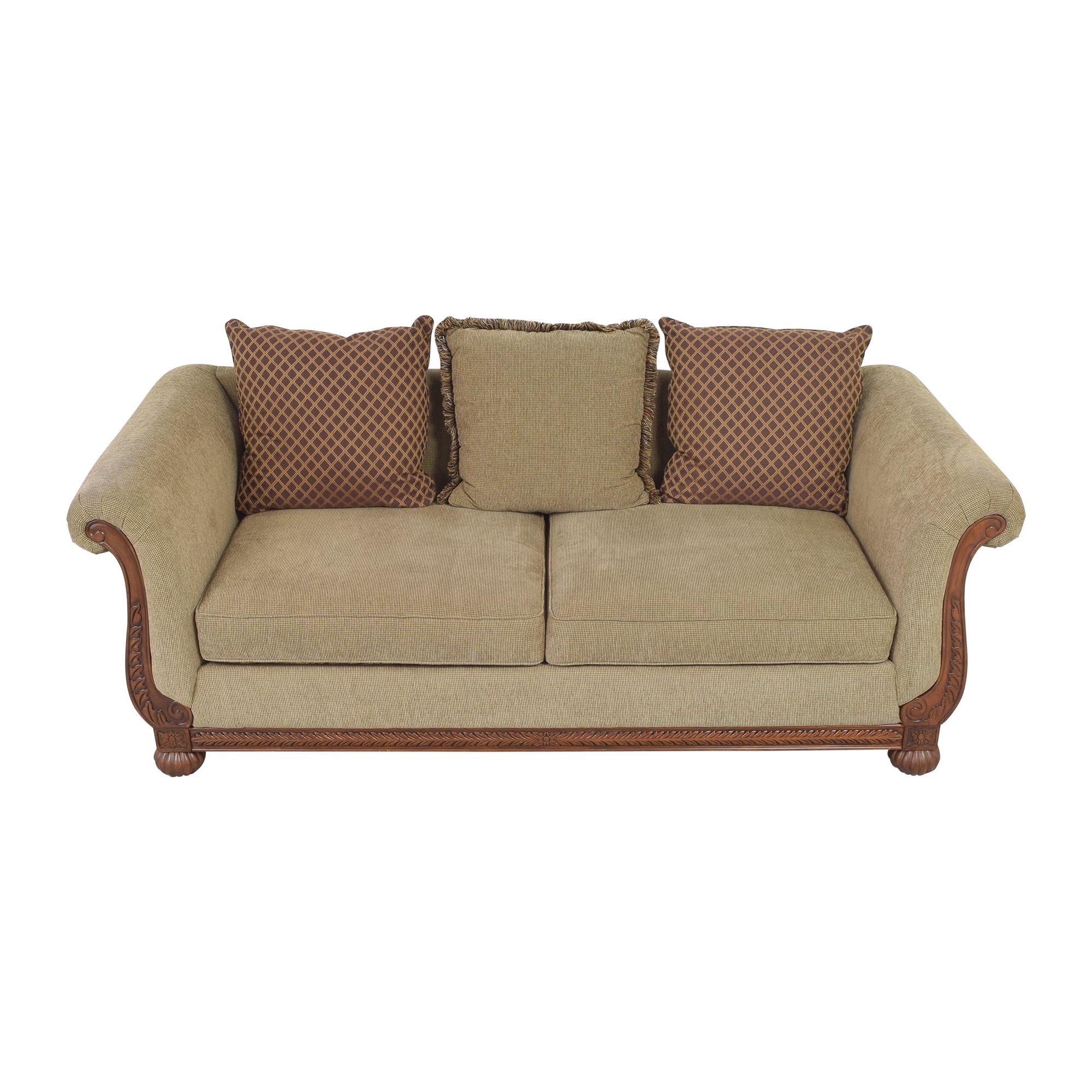 HM Richards Furniture HM Richards Furniture Traditional Roll Arm Sofa dimensions