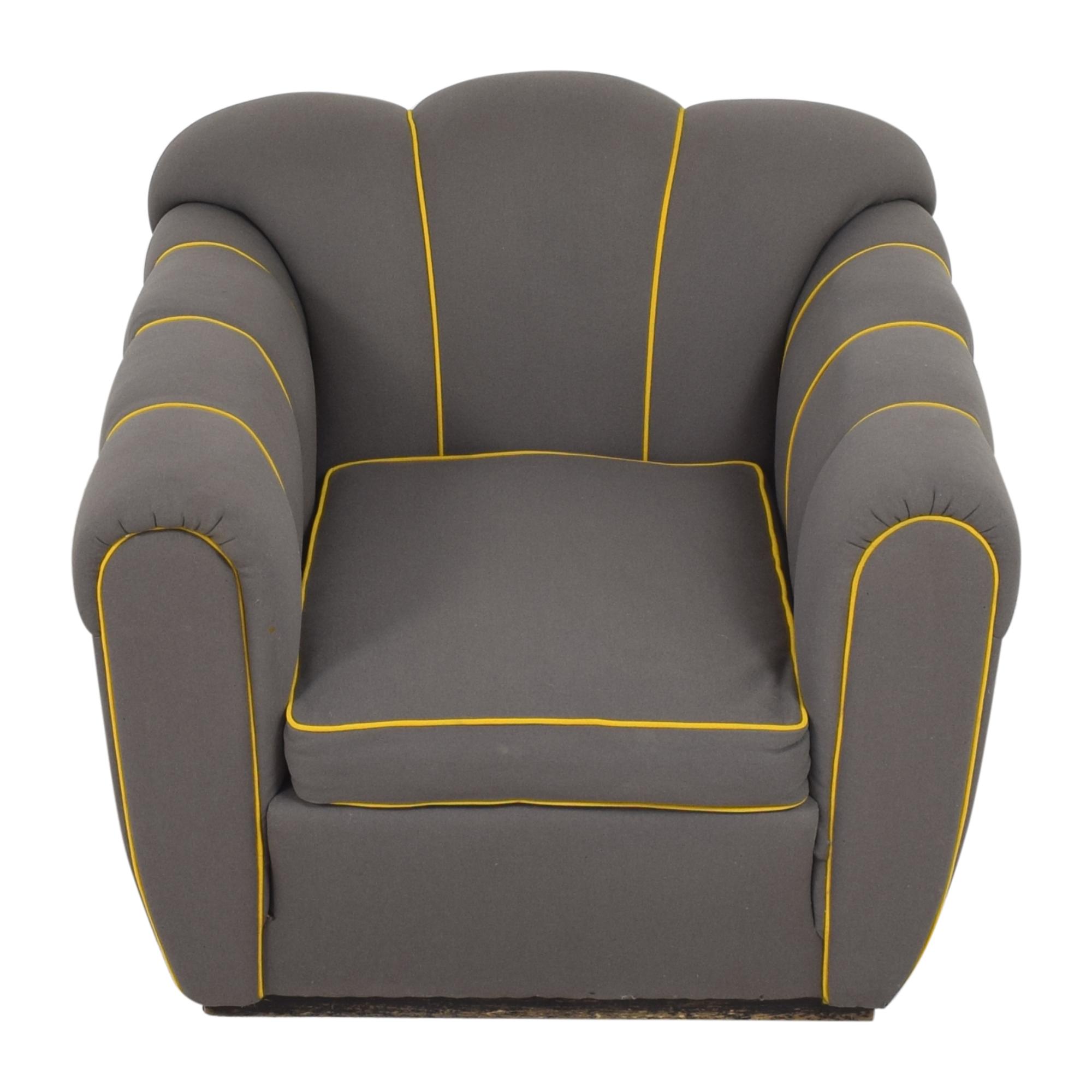 Custom Mid-Century Club Chair dimensions