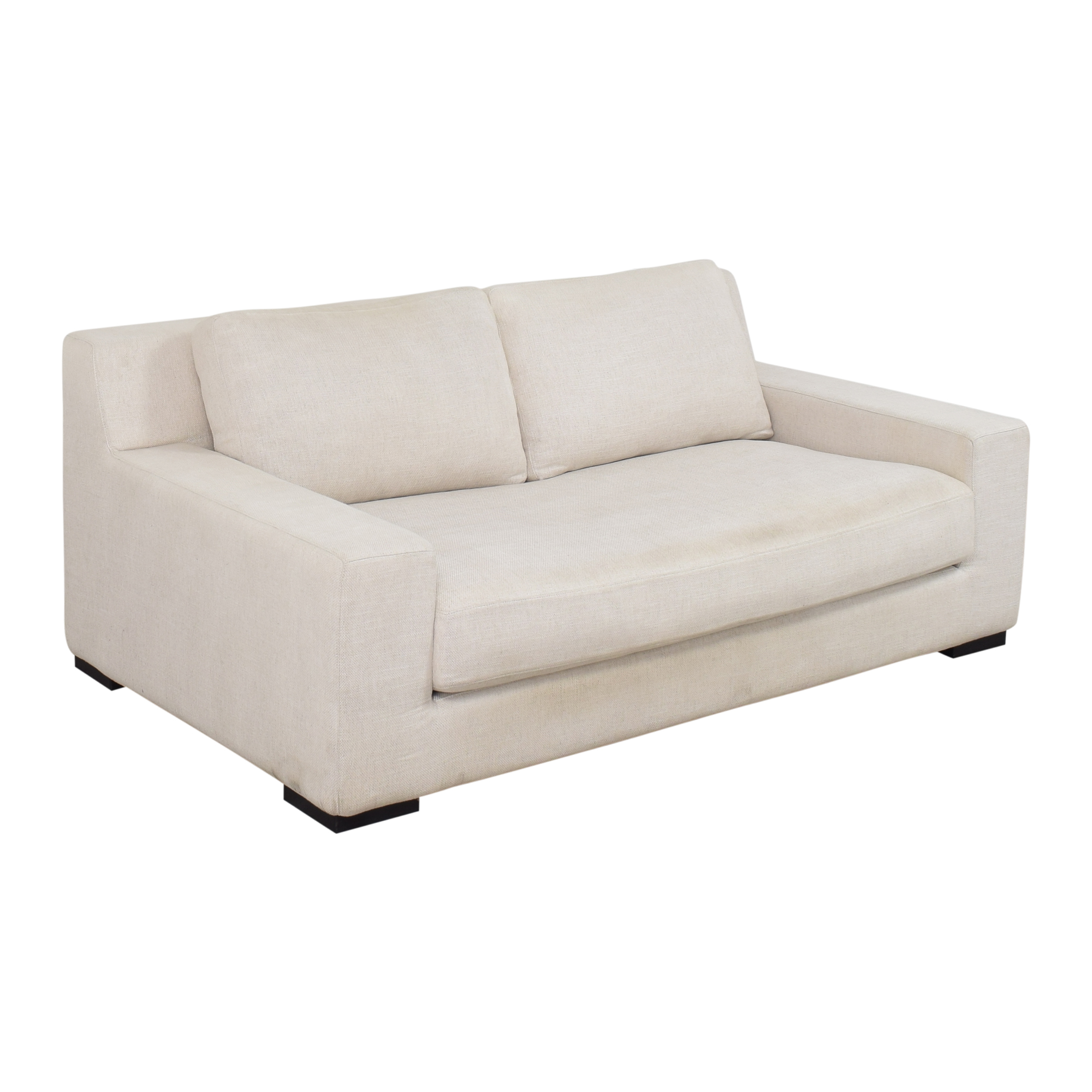 Restoration Hardware Restoration Hardware Modena Track Arm Bench-Seat Sofa dimensions