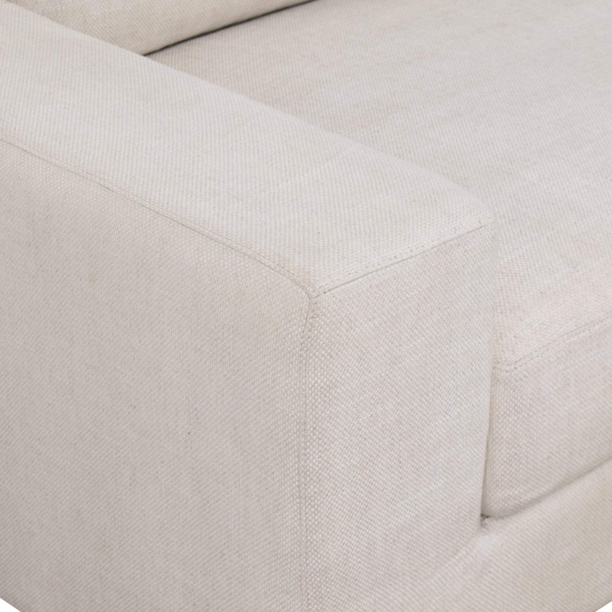 Restoration Hardware Restoration Hardware Modena Track Arm Bench-Seat Sofa discount