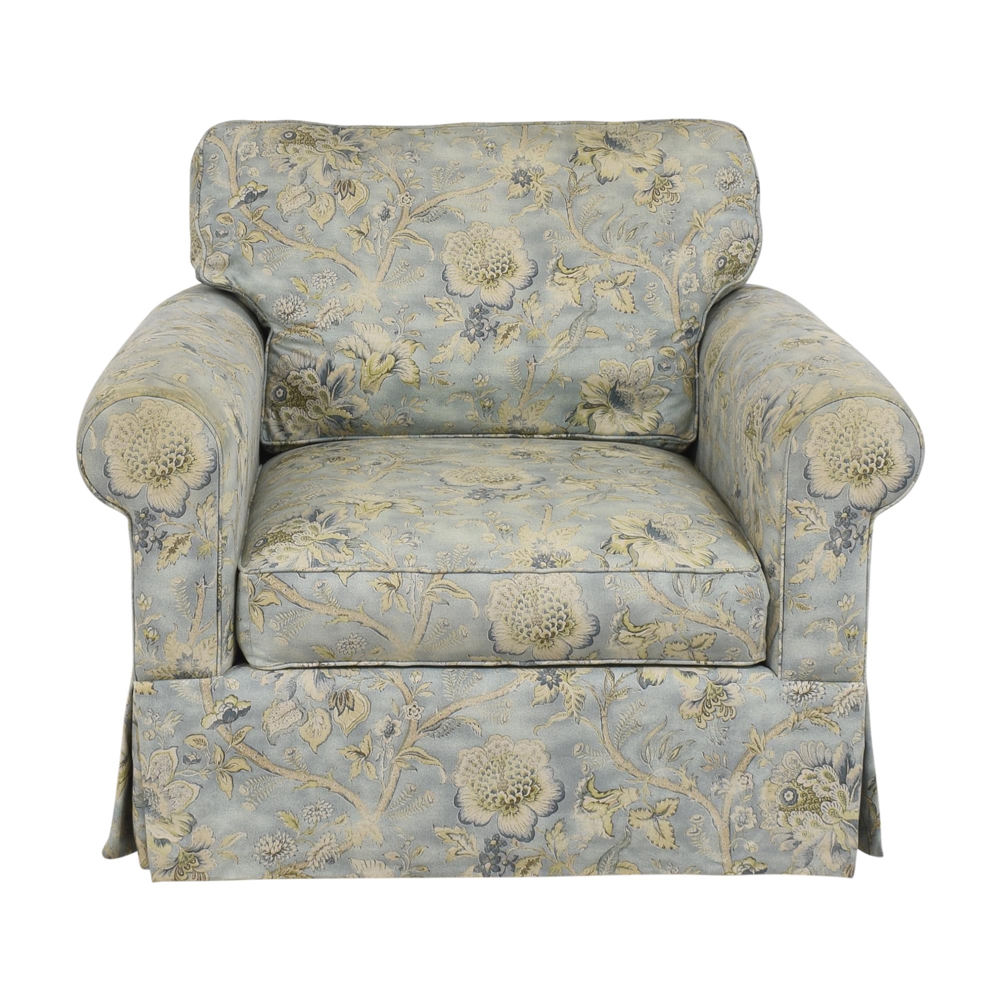 Arhaus Arhaus Baldwin Upholstered Swivel Chair with Ottoman used