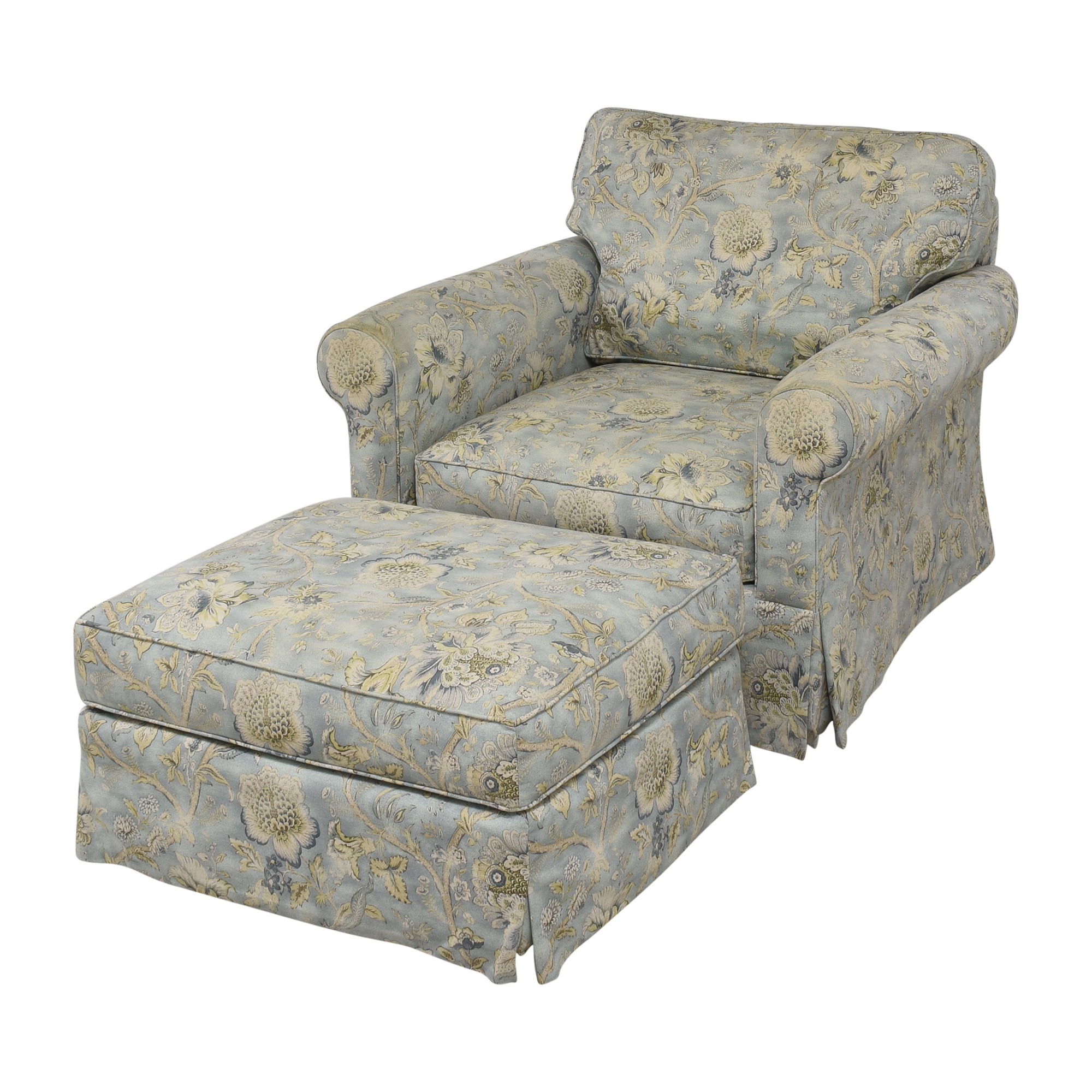 Arhaus Arhaus Baldwin Upholstered Swivel Chair with Ottoman price