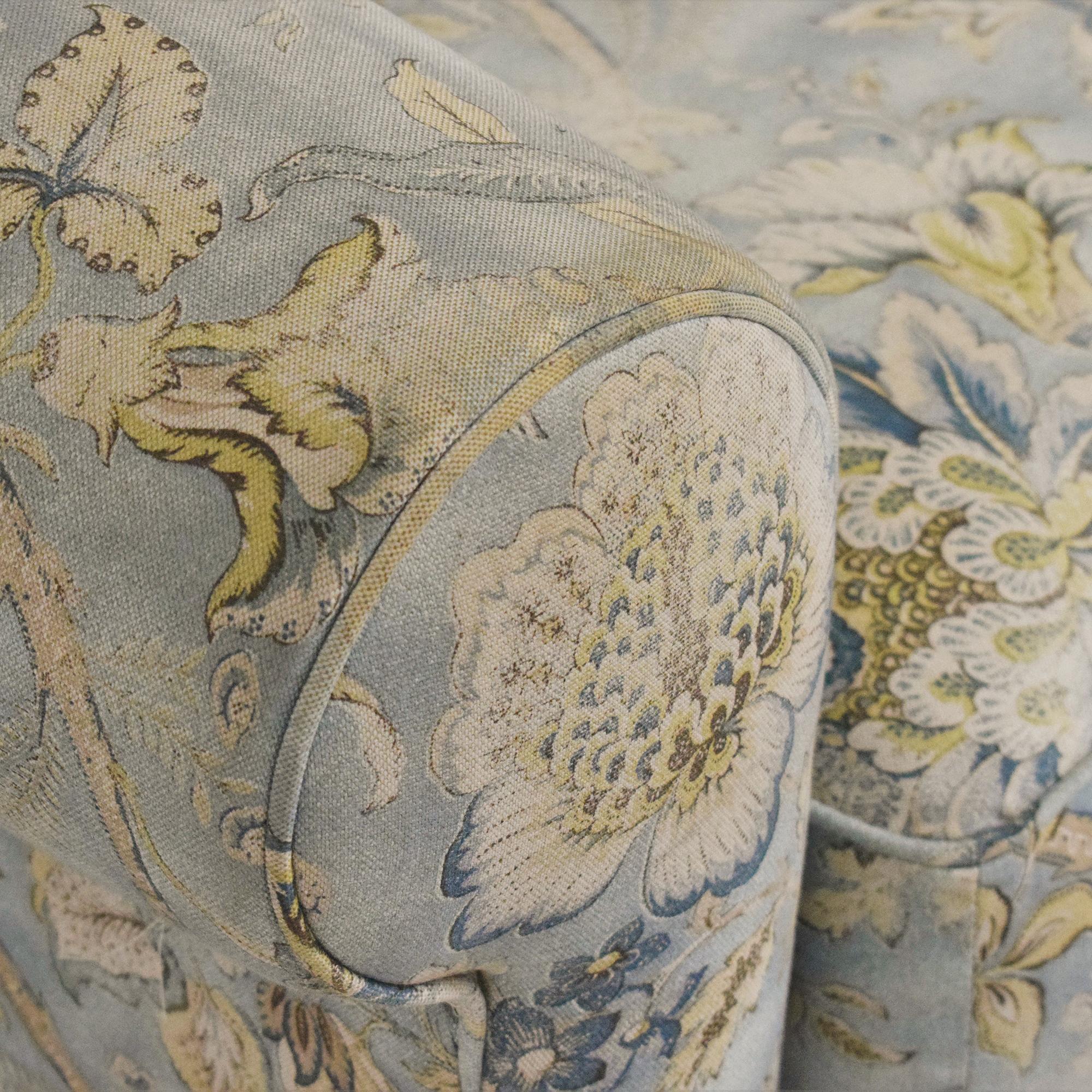 Arhaus Arhaus Baldwin Upholstered Swivel Chair with Ottoman discount