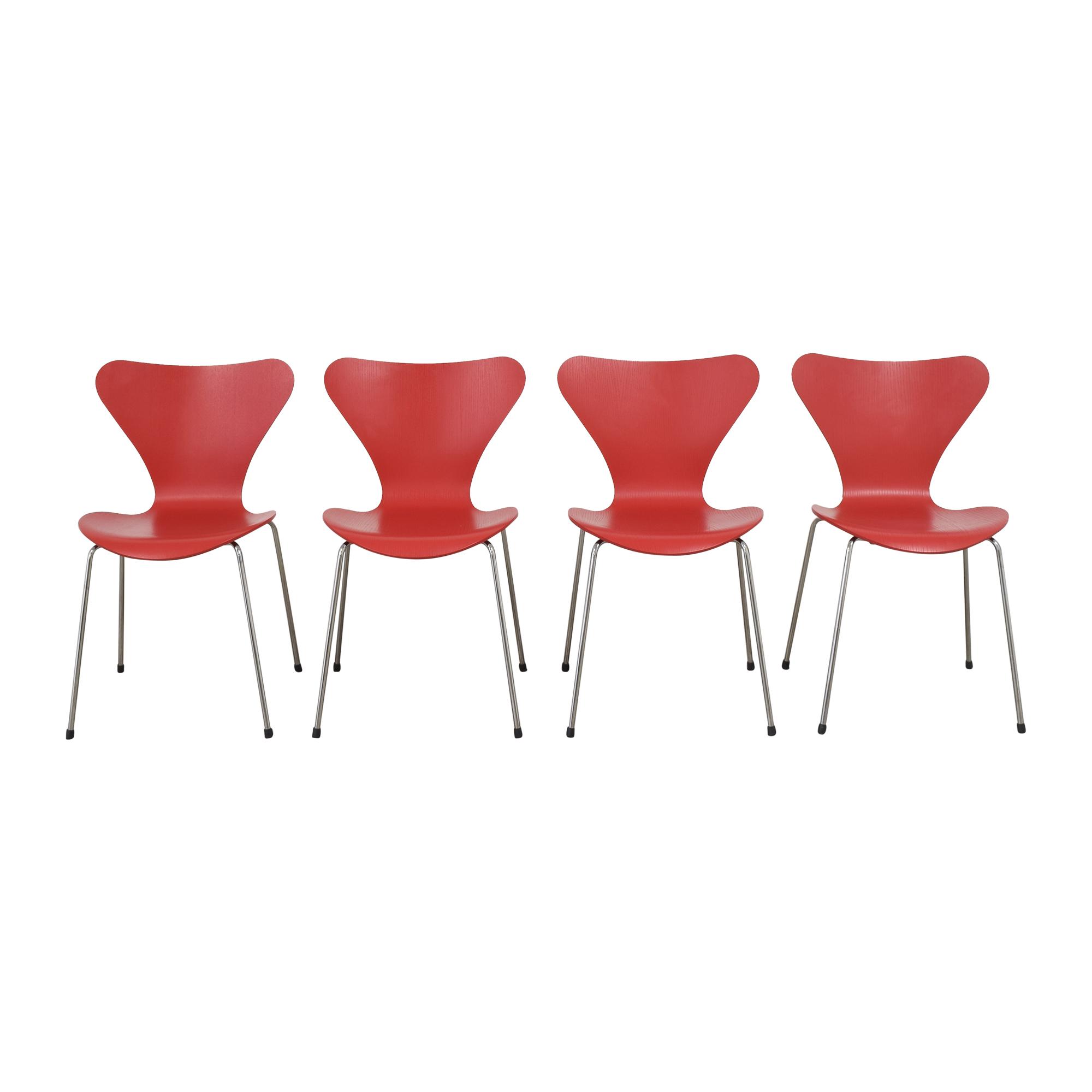 Fritz Hansen Fritz Hansen Series 7 Chairs nyc