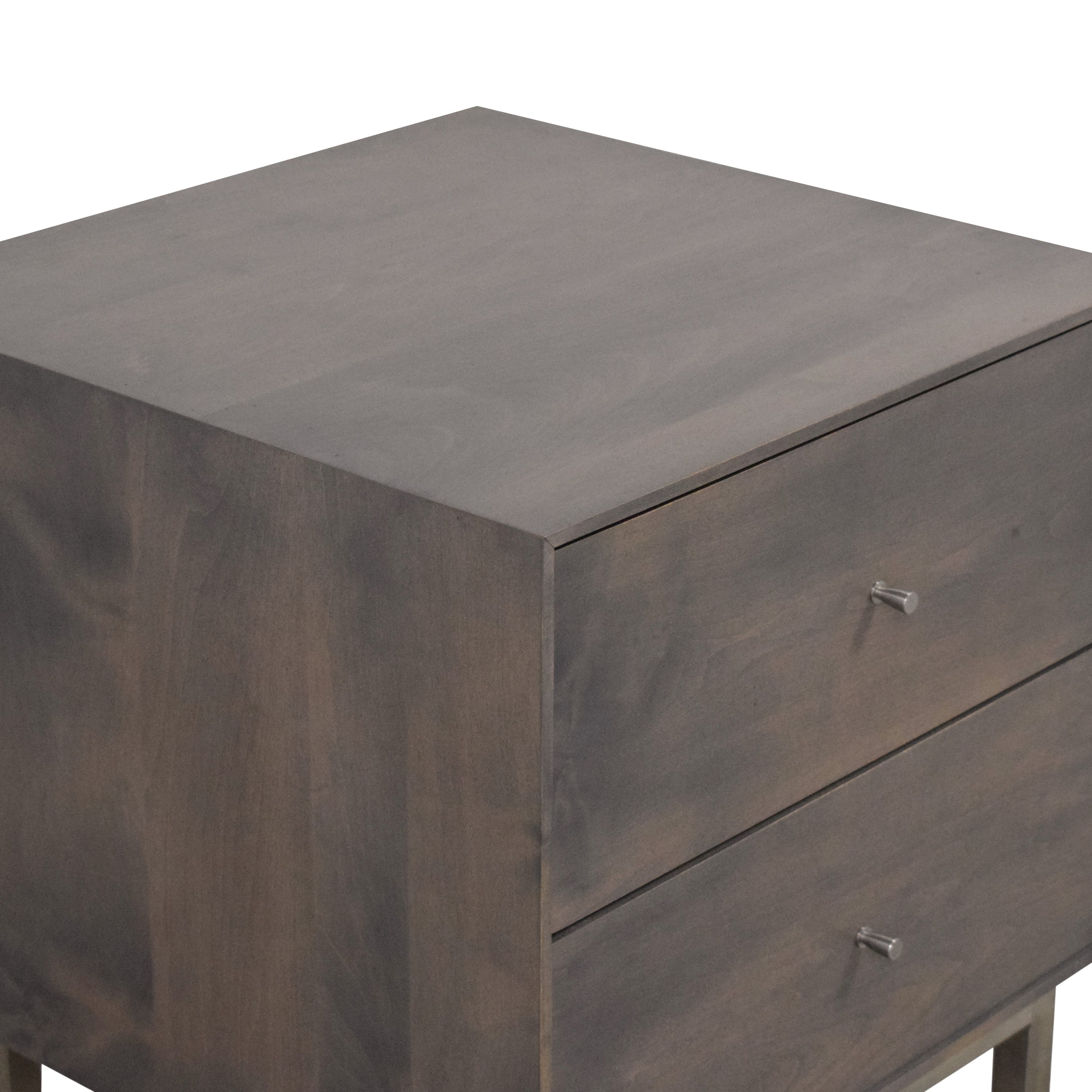 Room & Board Room & Board Hudson Two Drawer Nightstand dimensions