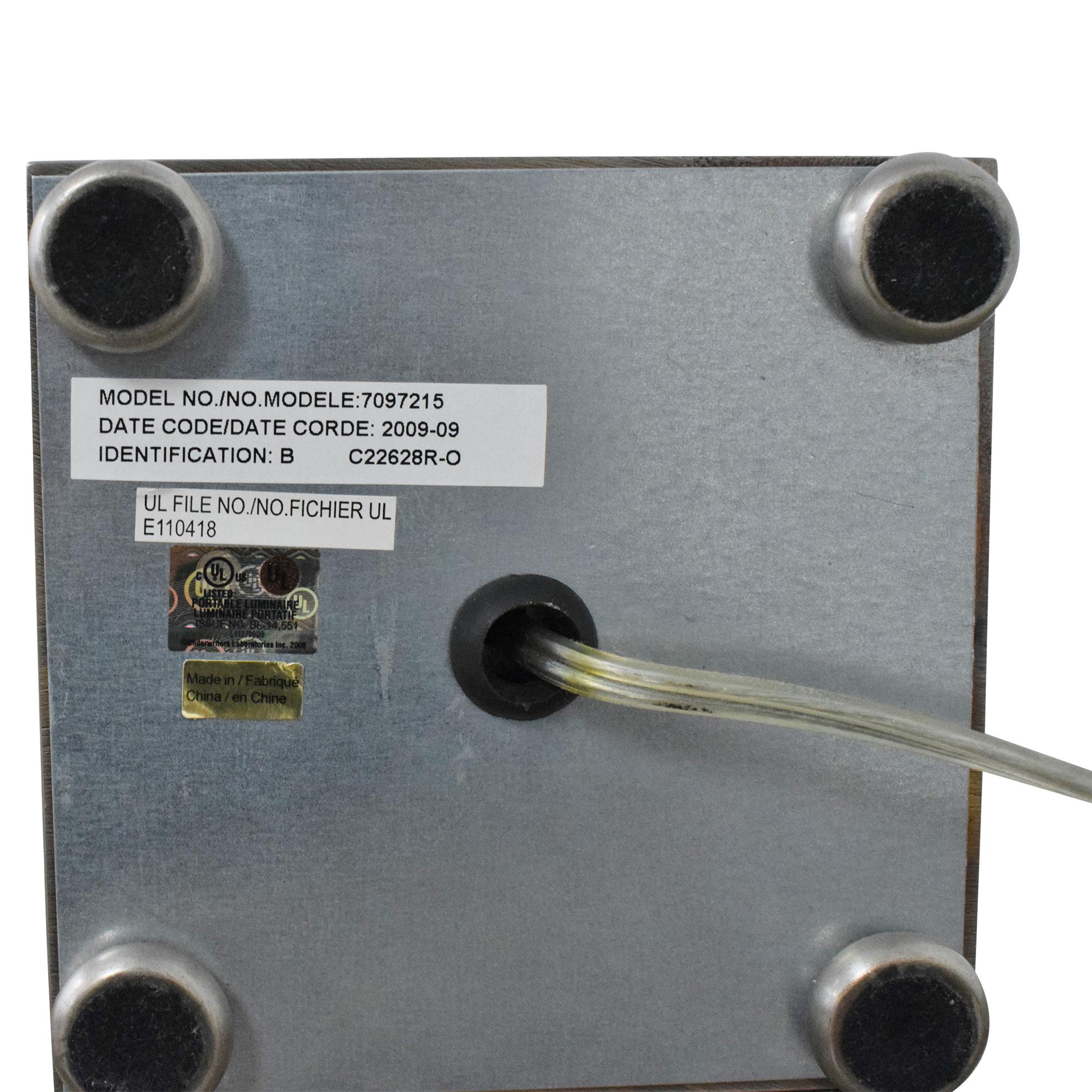 Restoration Hardware Restoration Hardware Table Lamp dimensions