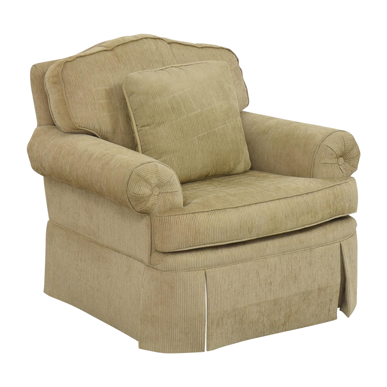 shop Drexel Heritage Skirted Club Chair Drexel Heritage