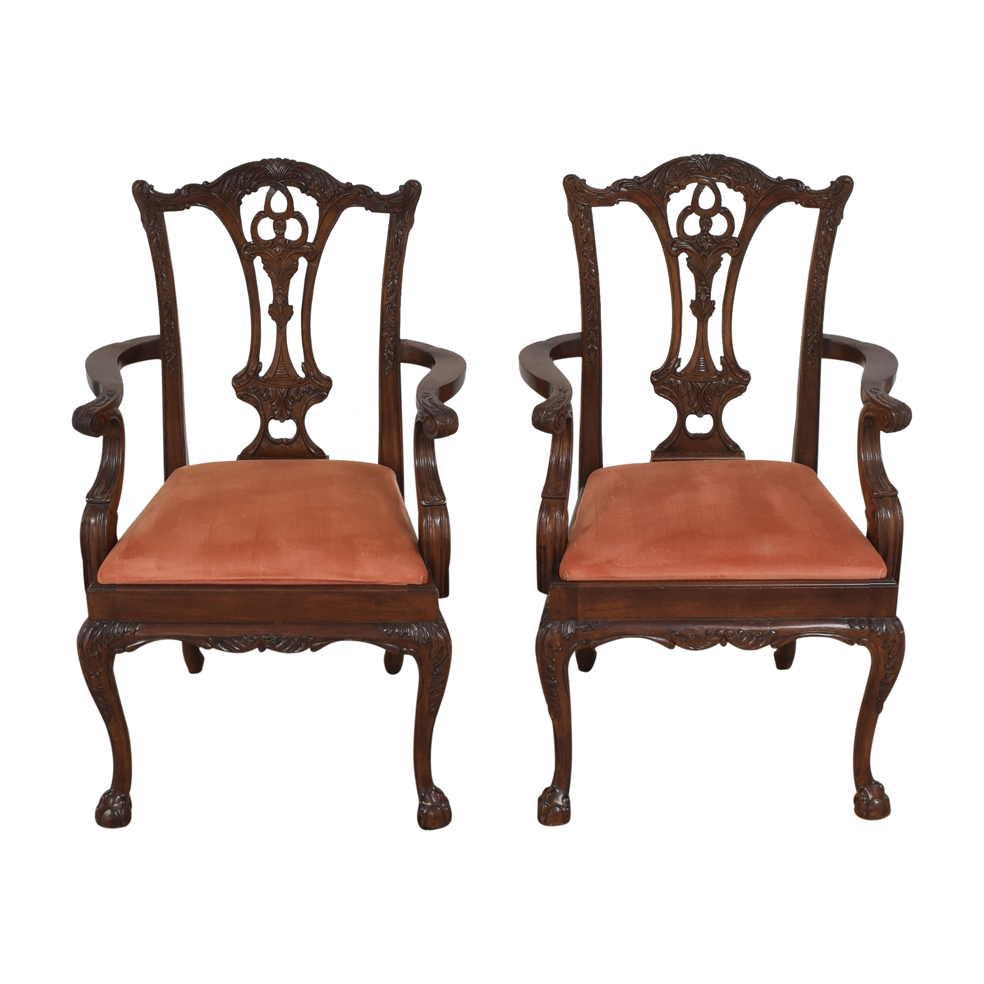 Custom Chippendale Dining Arm Chairs discount