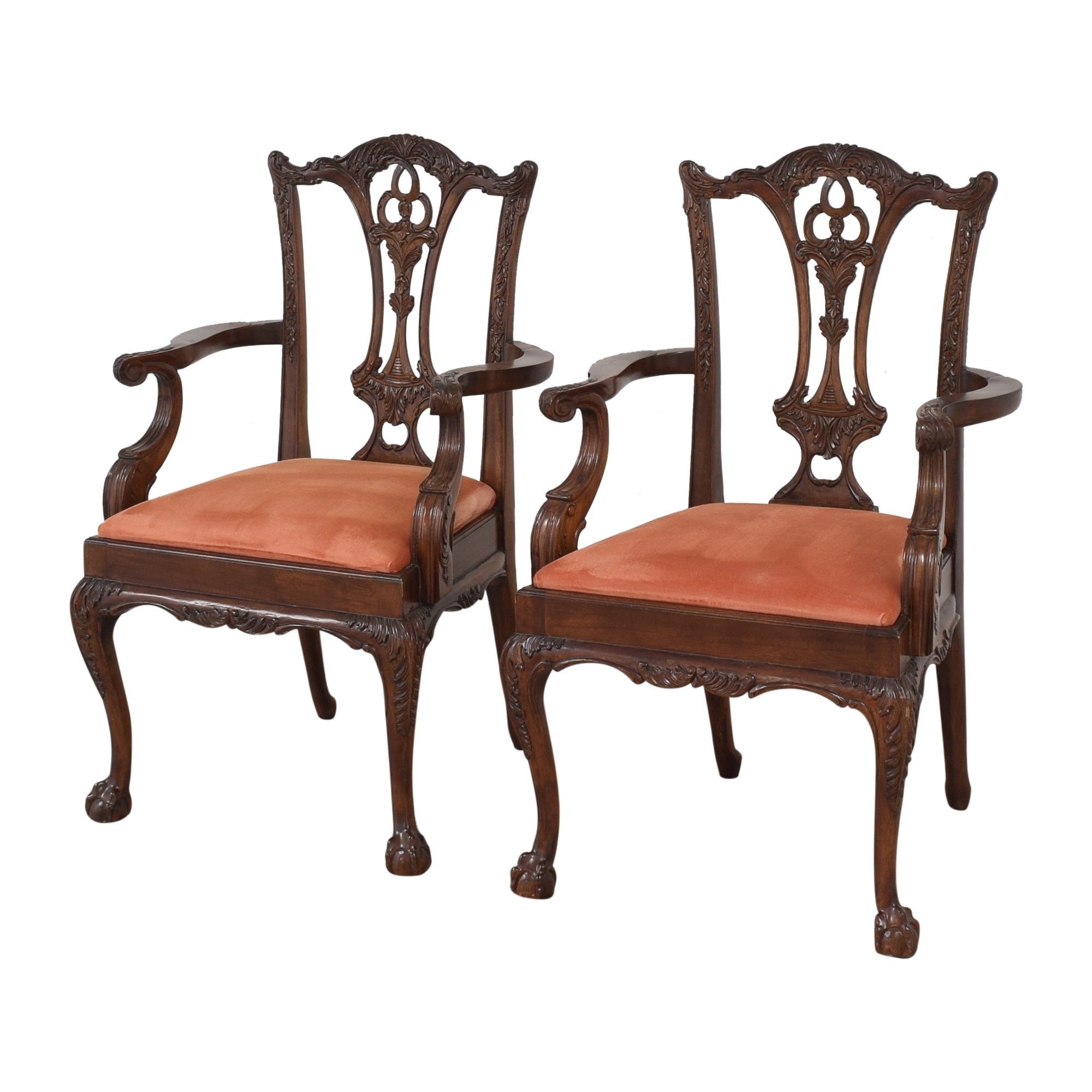 Custom Chippendale Dining Arm Chairs