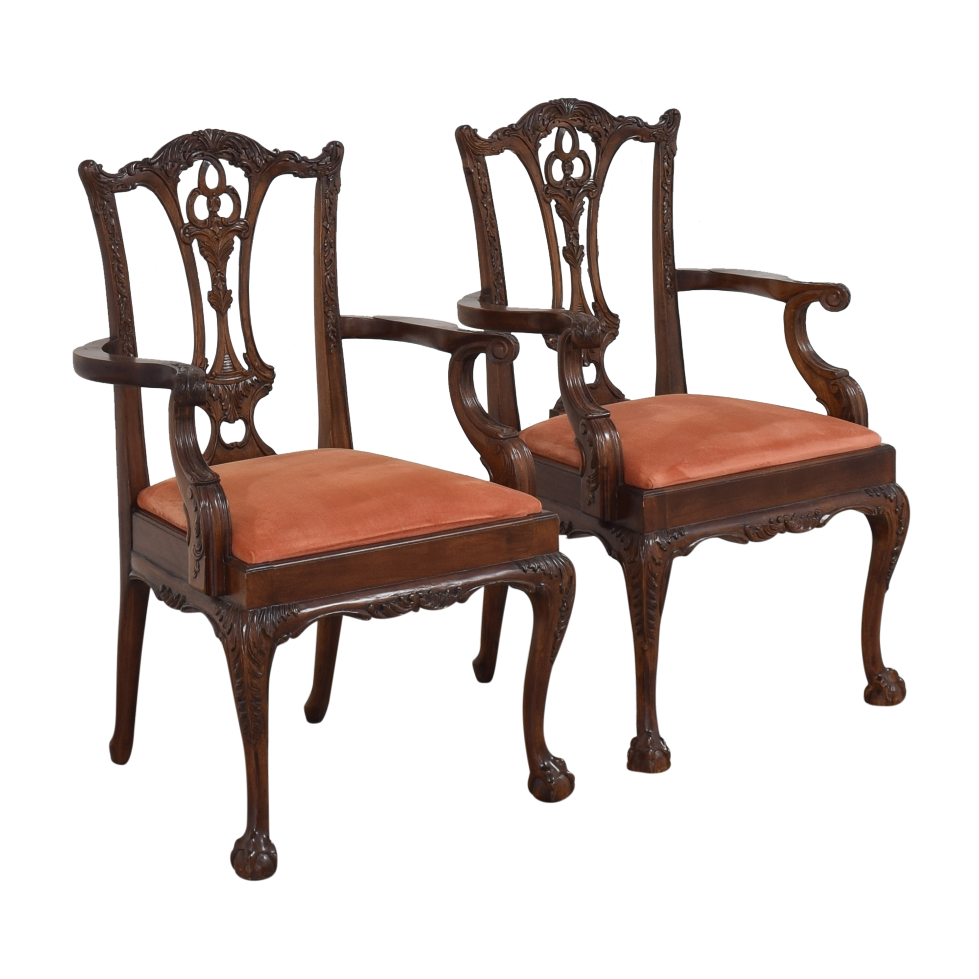 Custom Chippendale Dining Arm Chairs nj