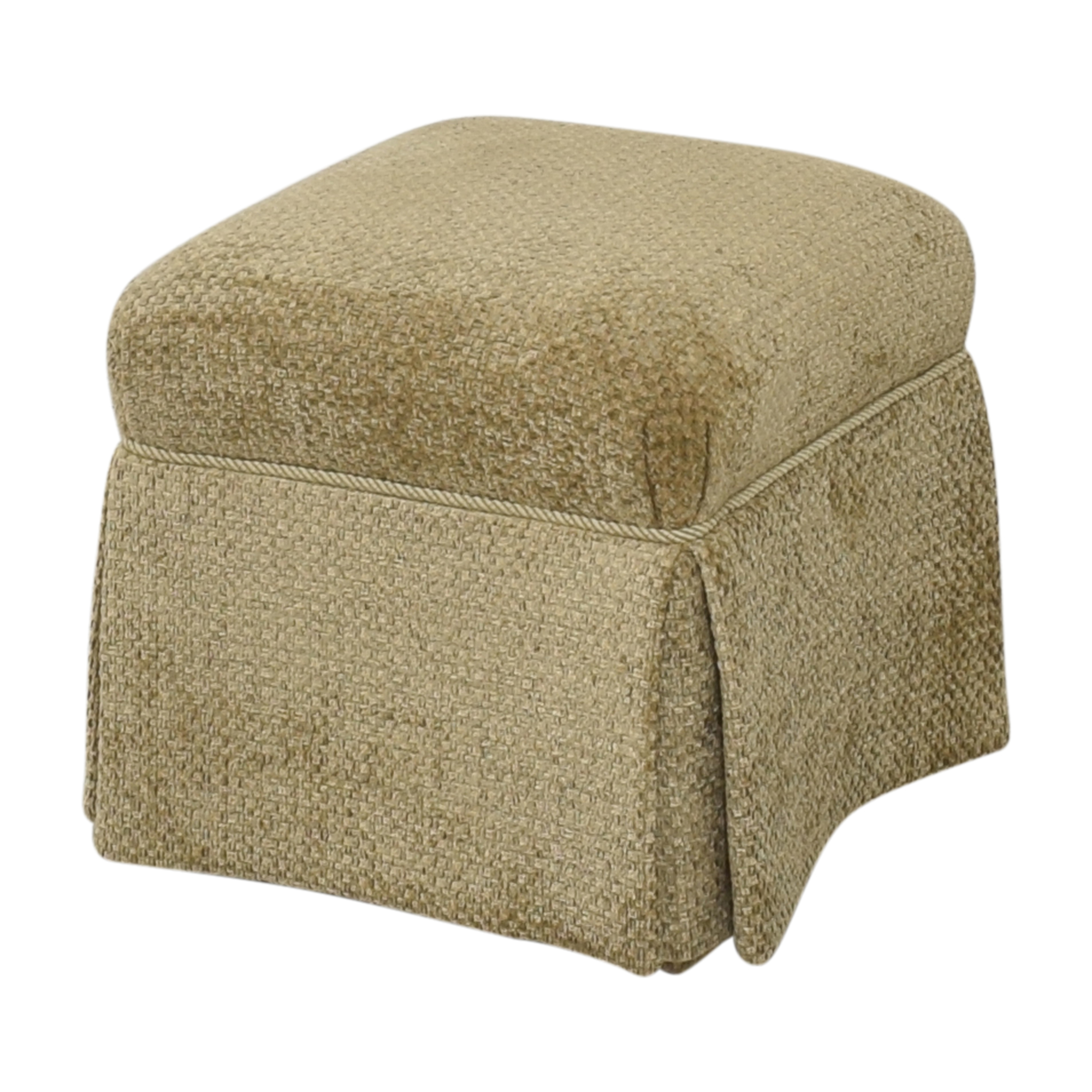 Sherrill Furniture Sherrill Furniture Skirted Ottoman Chairs