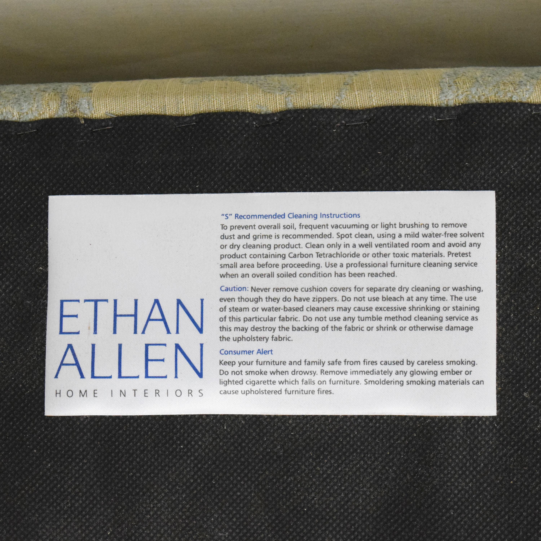 buy Ethan Allen Devonshire Skirted Ottoman Ethan Allen Ottomans
