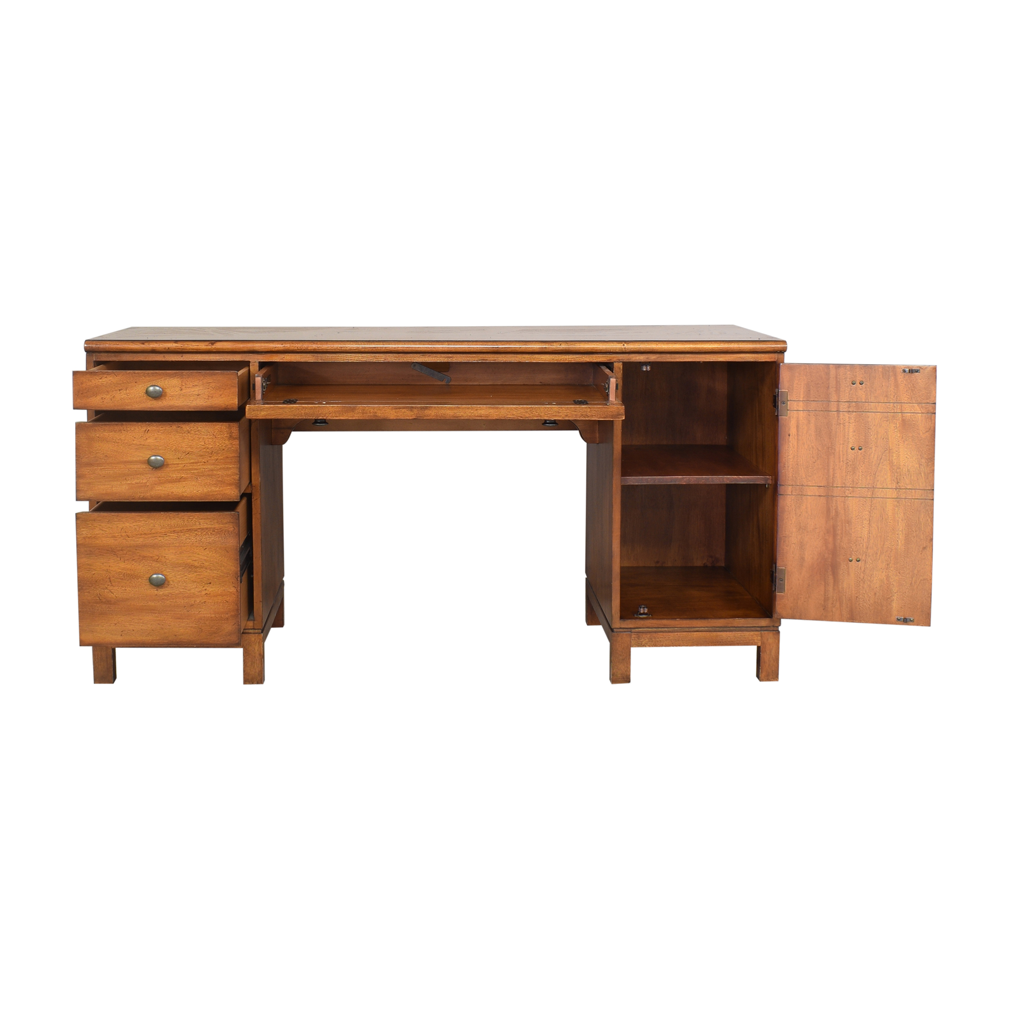 Ethan Allen Ethan Allen Hawke Double Pedestal Desk brown