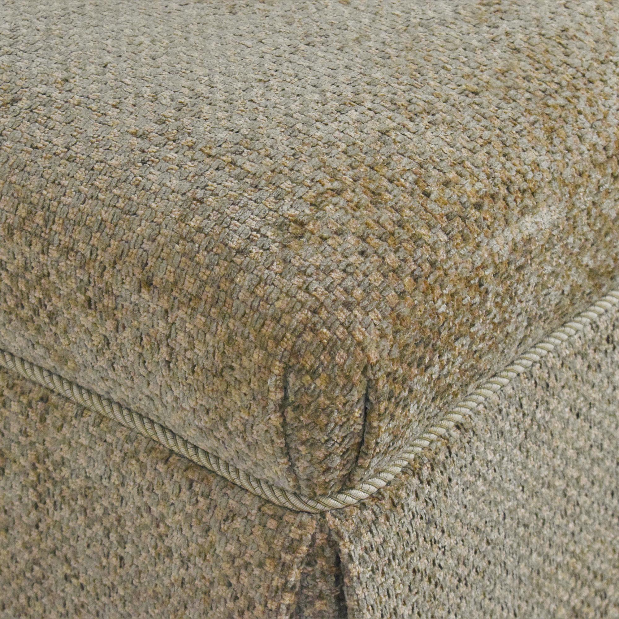 buy Sherrill Furniture Skirted Ottoman Sherrill Furniture