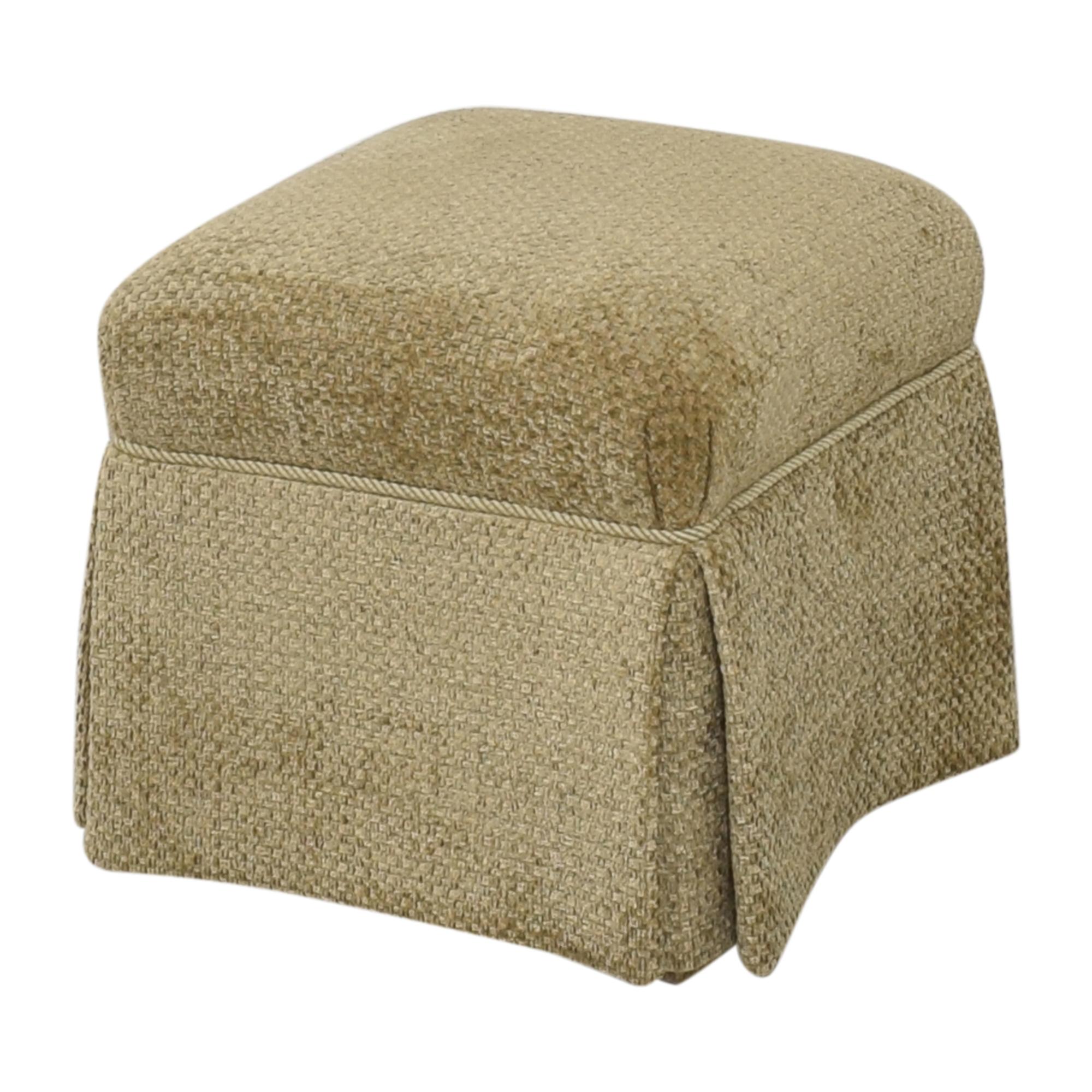 Sherrill Furniture Sherrill Furniture Skirted Ottoman ct