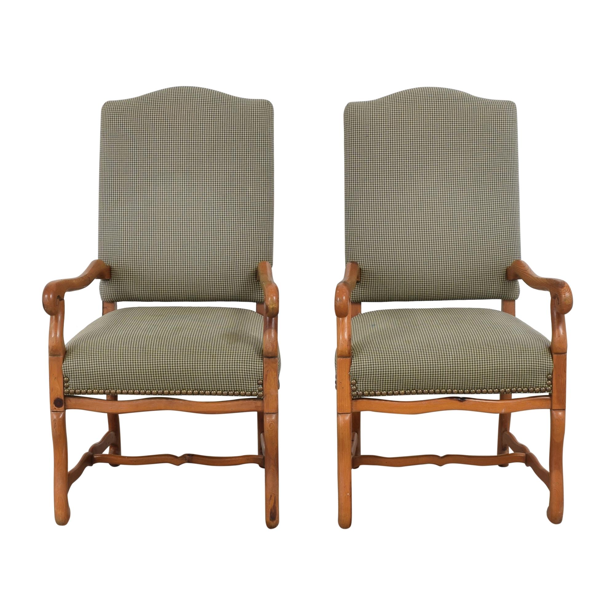 Ralph Lauren Home Ralph Lauren Home Os De Mouton Style Arm Chairs  green & brown