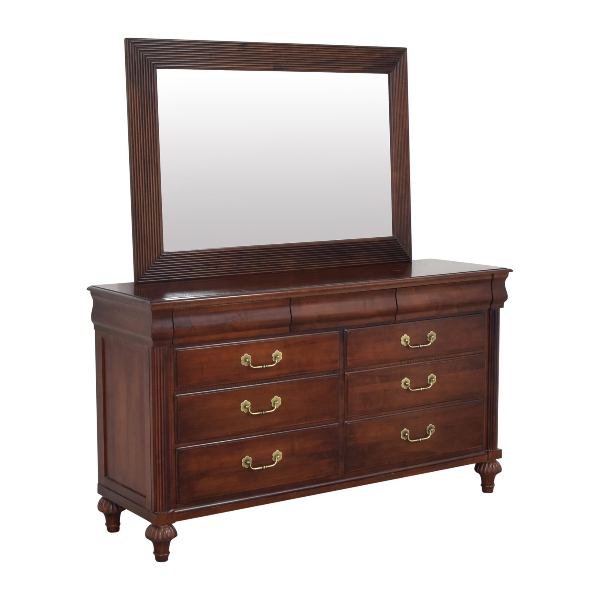 Ethan Allen Ethan Allen British Classics Marques Dresser with Mirror dimensions