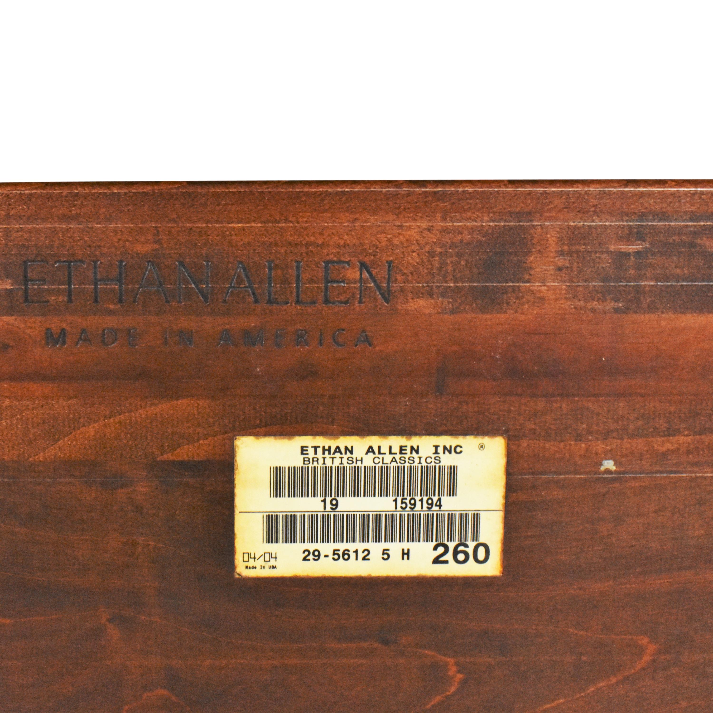 shop Ethan Allen British Classics Queen Sleigh Bed Ethan Allen