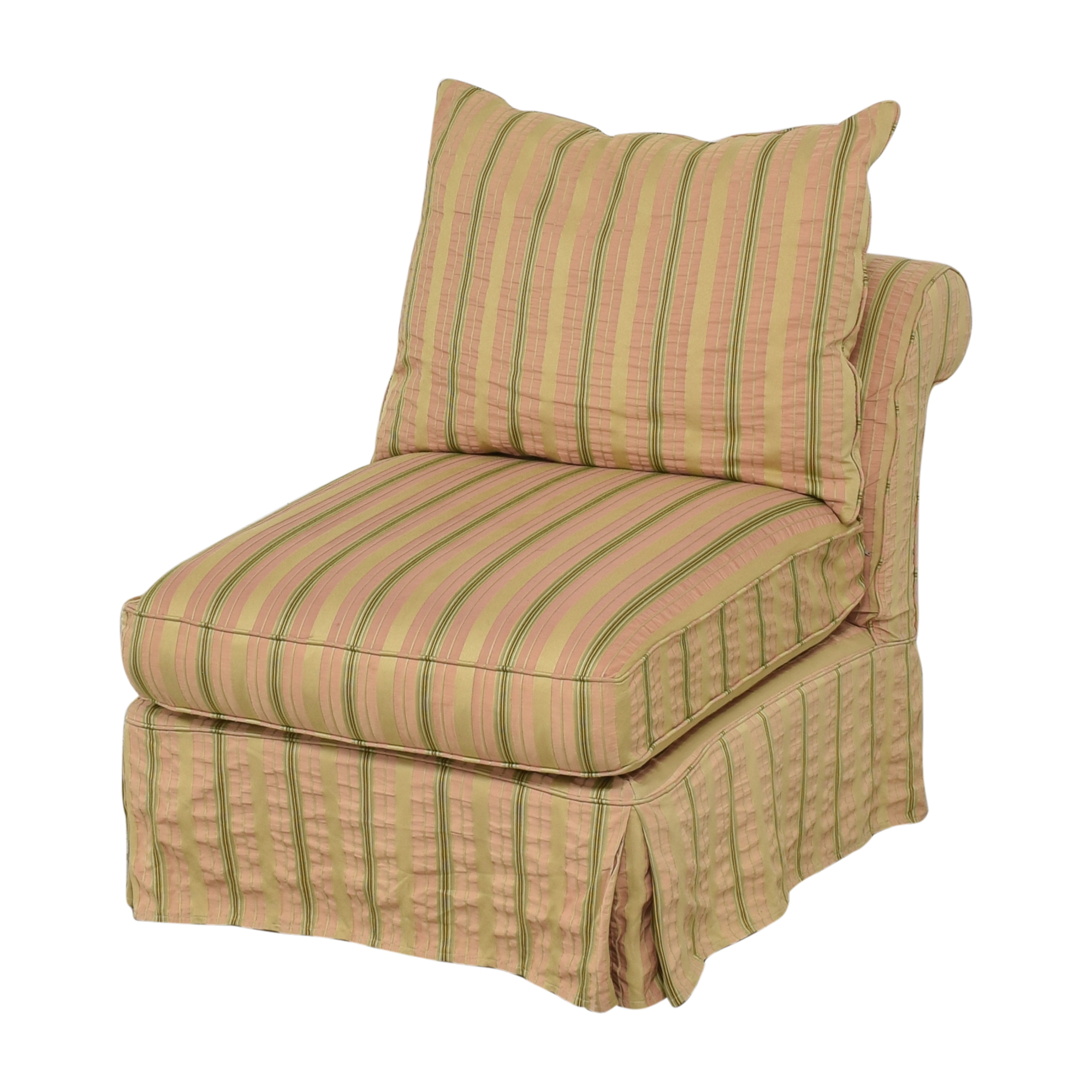 shop Domain Home Slipcovered Slipper Lounge Chair Domain Home Accent Chairs