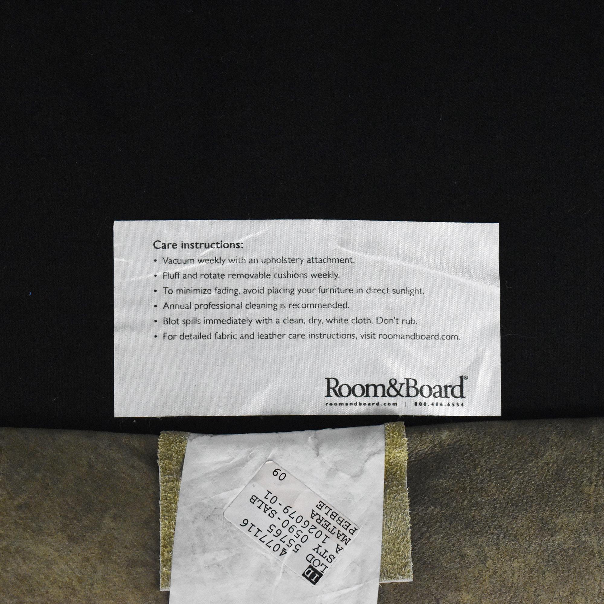 Room & Board Room & Board Jasper Two Cushion Sofa Gray