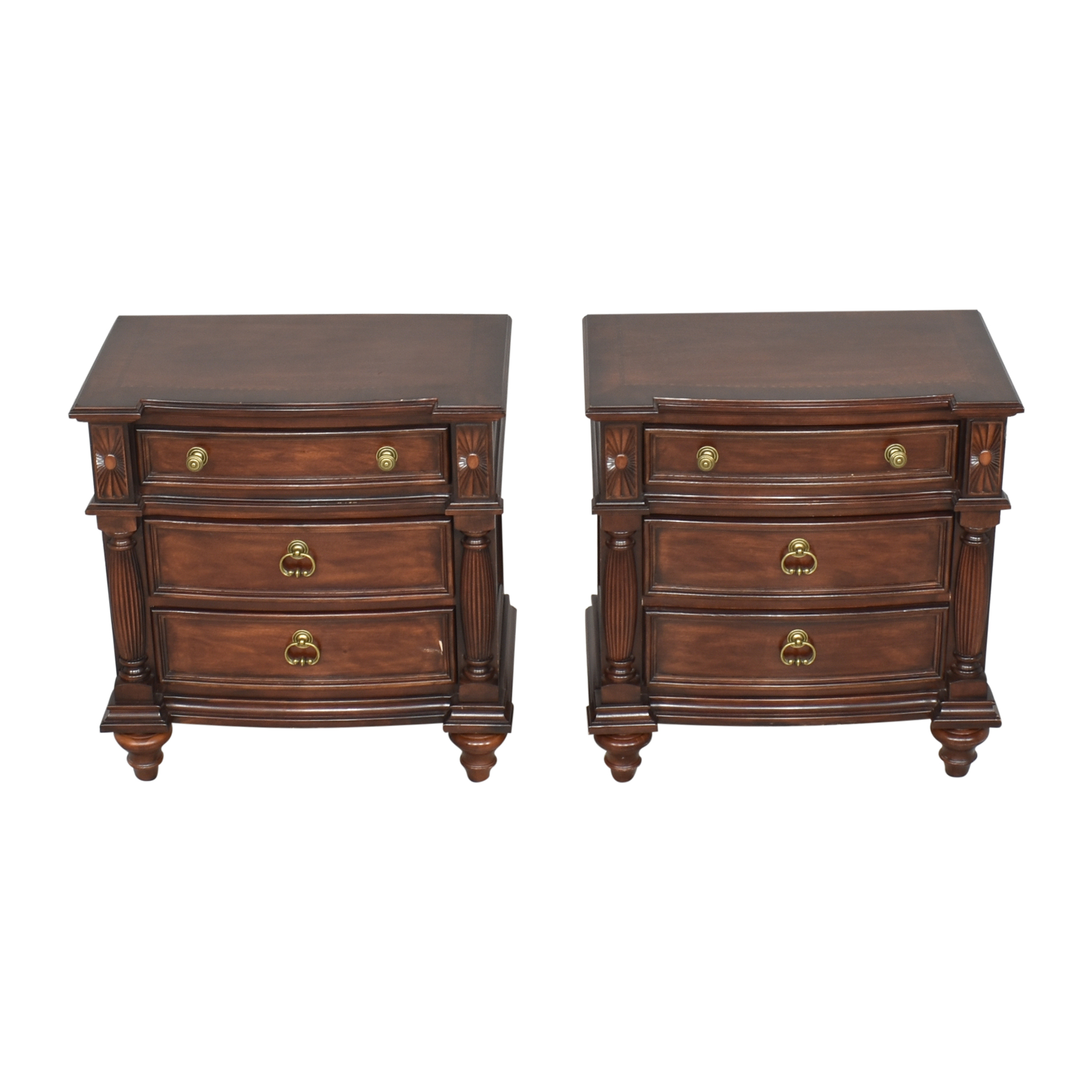Raymour & Flanigan Raymour & Flanigan Three Drawer End Tables End Tables