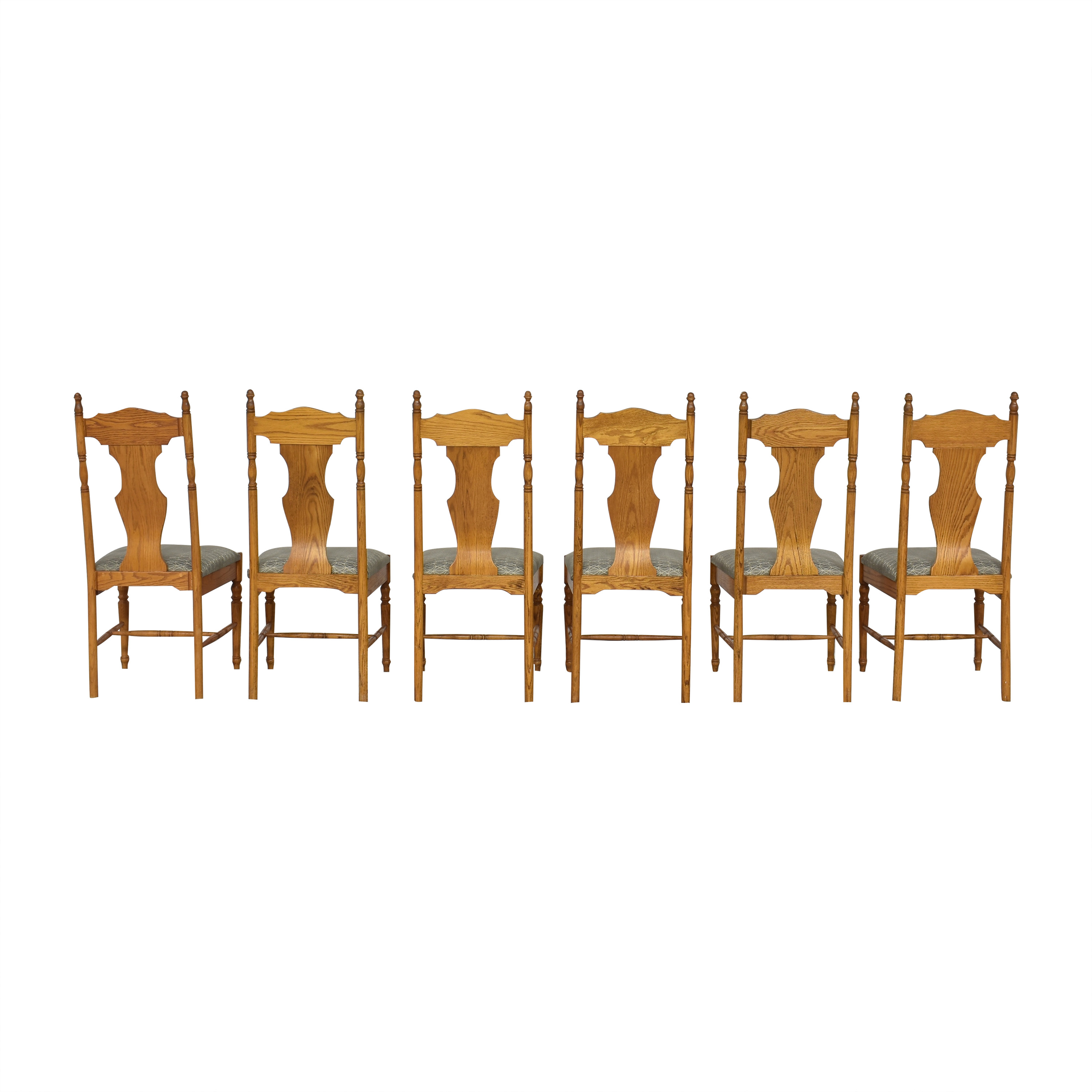 Upholstered Dining Side Chairs Brown and Grey